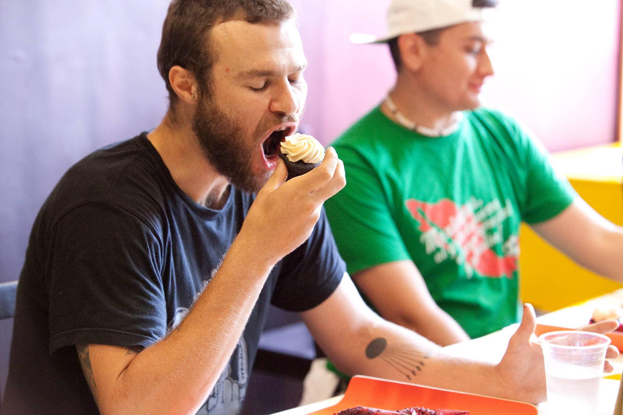 Vegan cupcake eating Contest