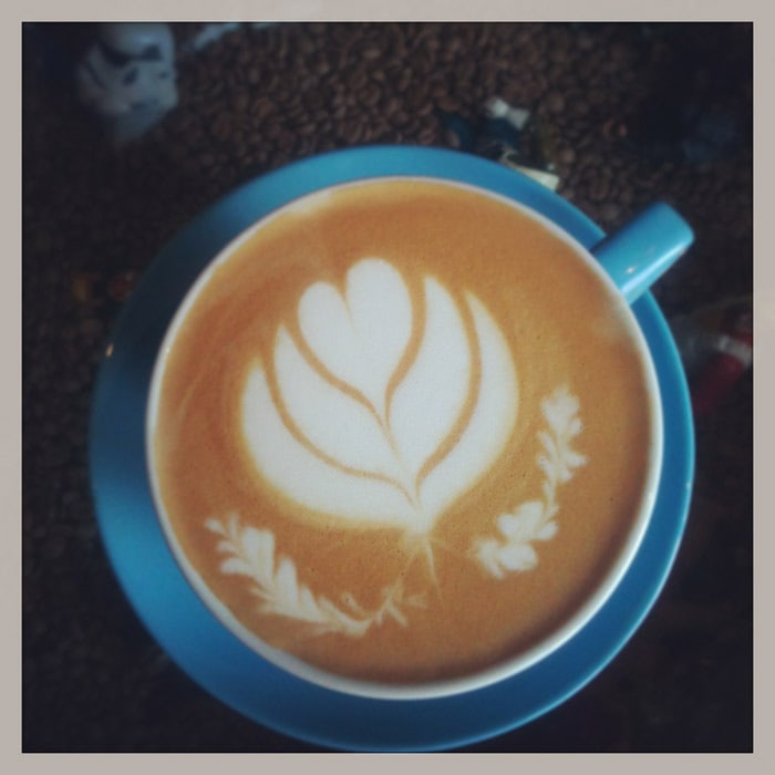 Latte at Wormhole Coffee in Chicago, Illinois