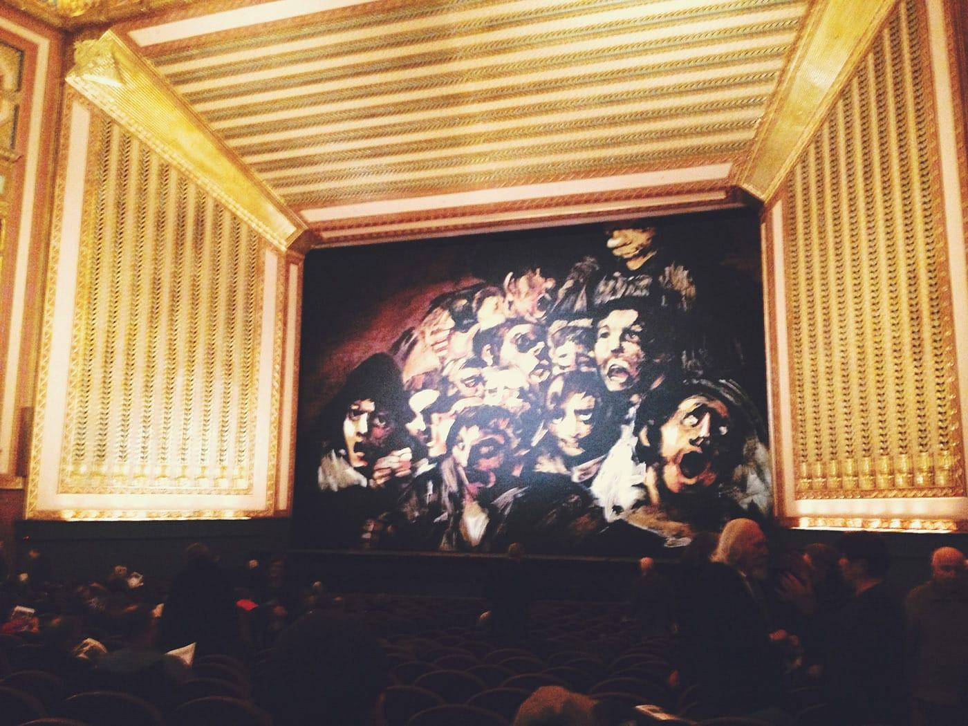 At the opera.