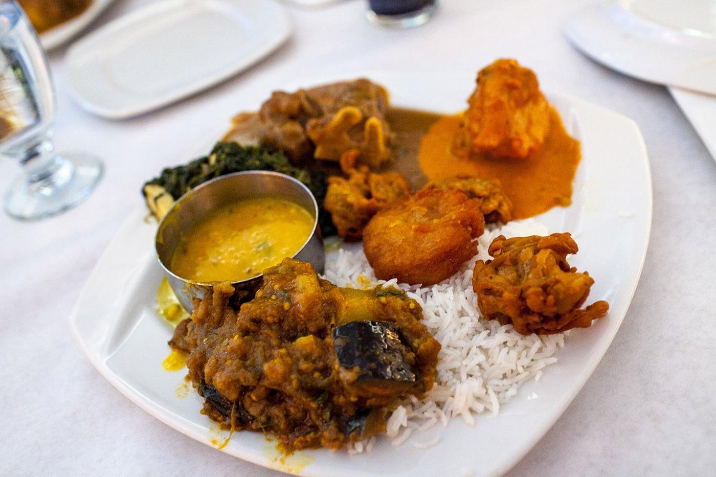 Indian buffet.