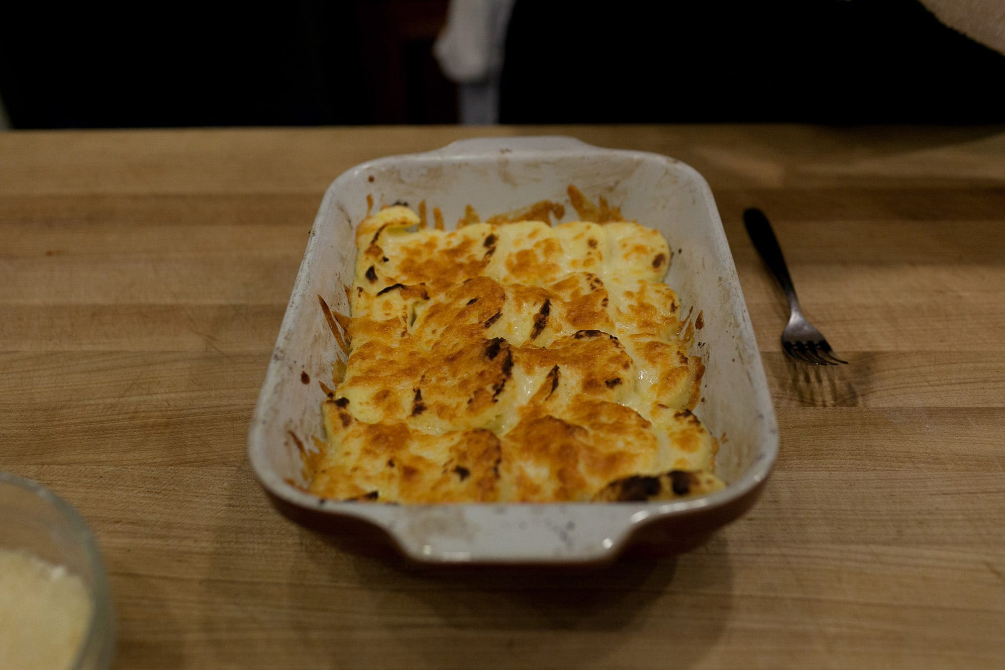 Semolina cakes with fontina cheese at the Fall Gnocchi Making Class at the Lincoln Square Chopping Block in Chicago, Illinois