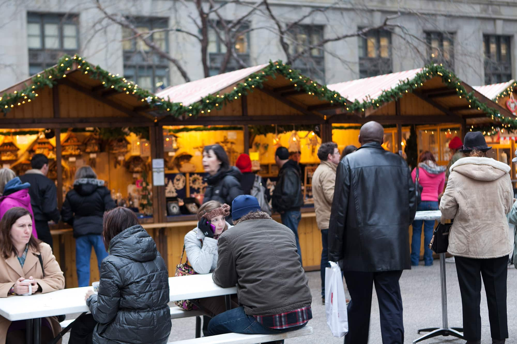 Christkindlmarket in Chicago, Illinois