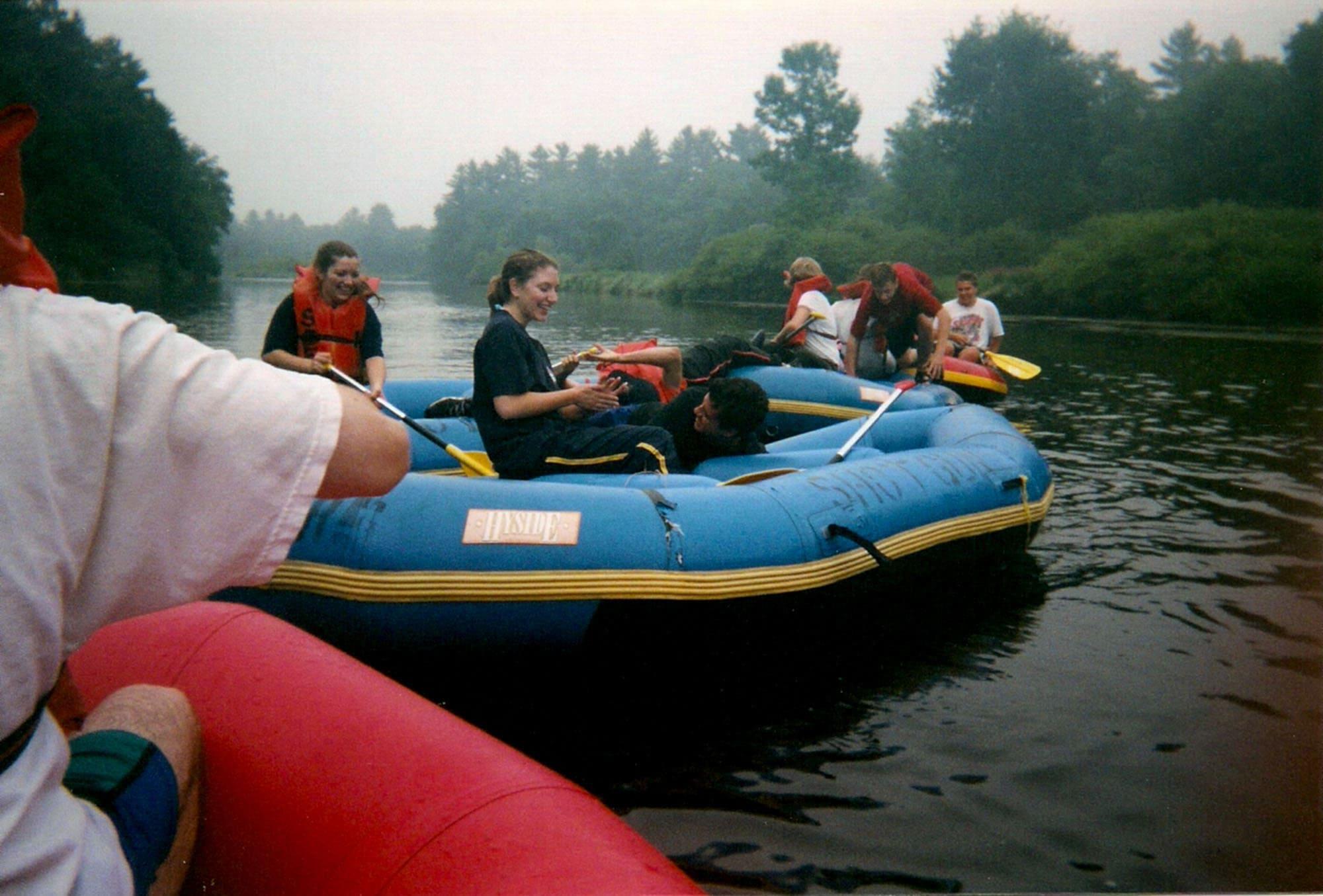 White water rafting at Shotgun Eddy's in Wisconsin