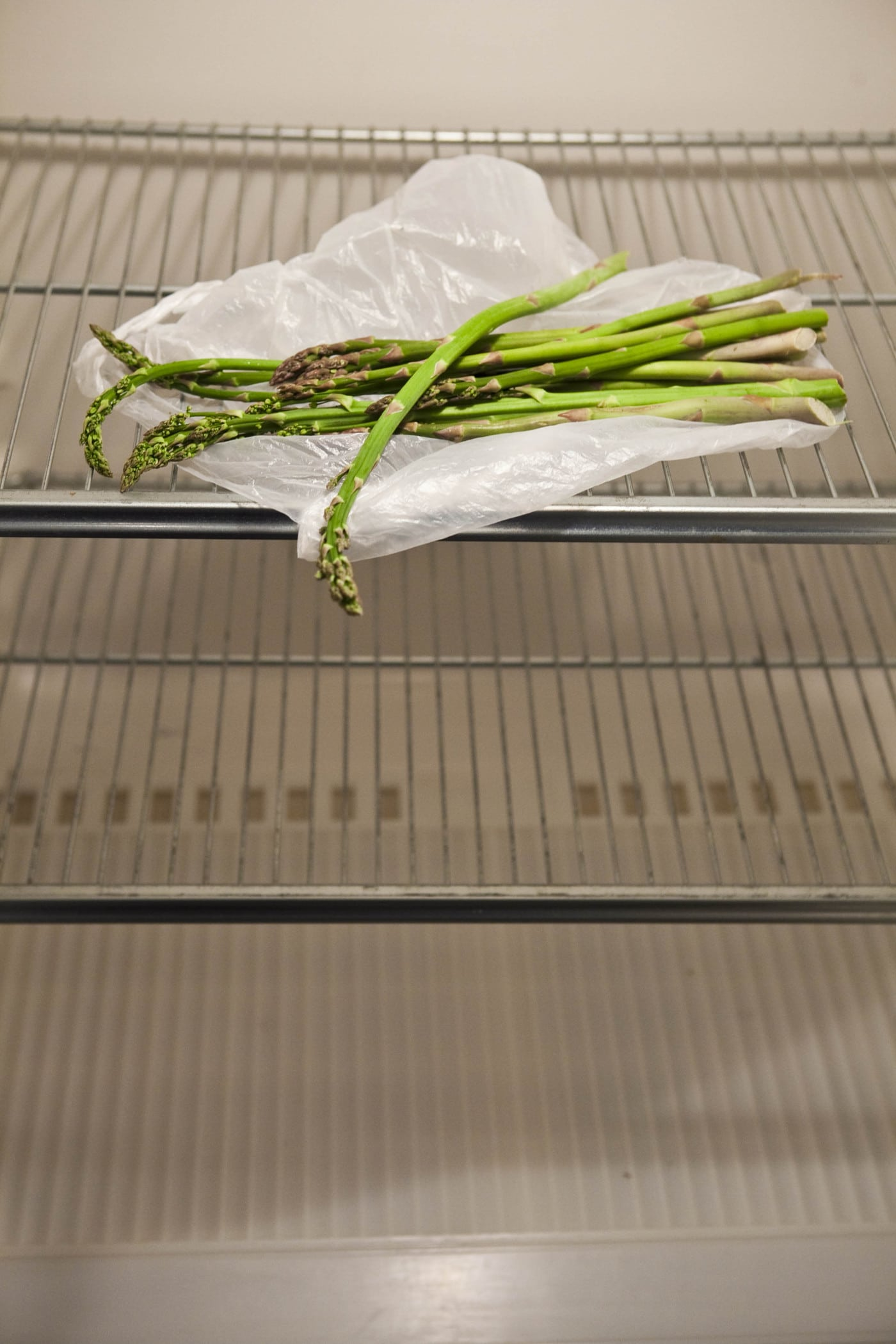 Asparagus in my empty fridge