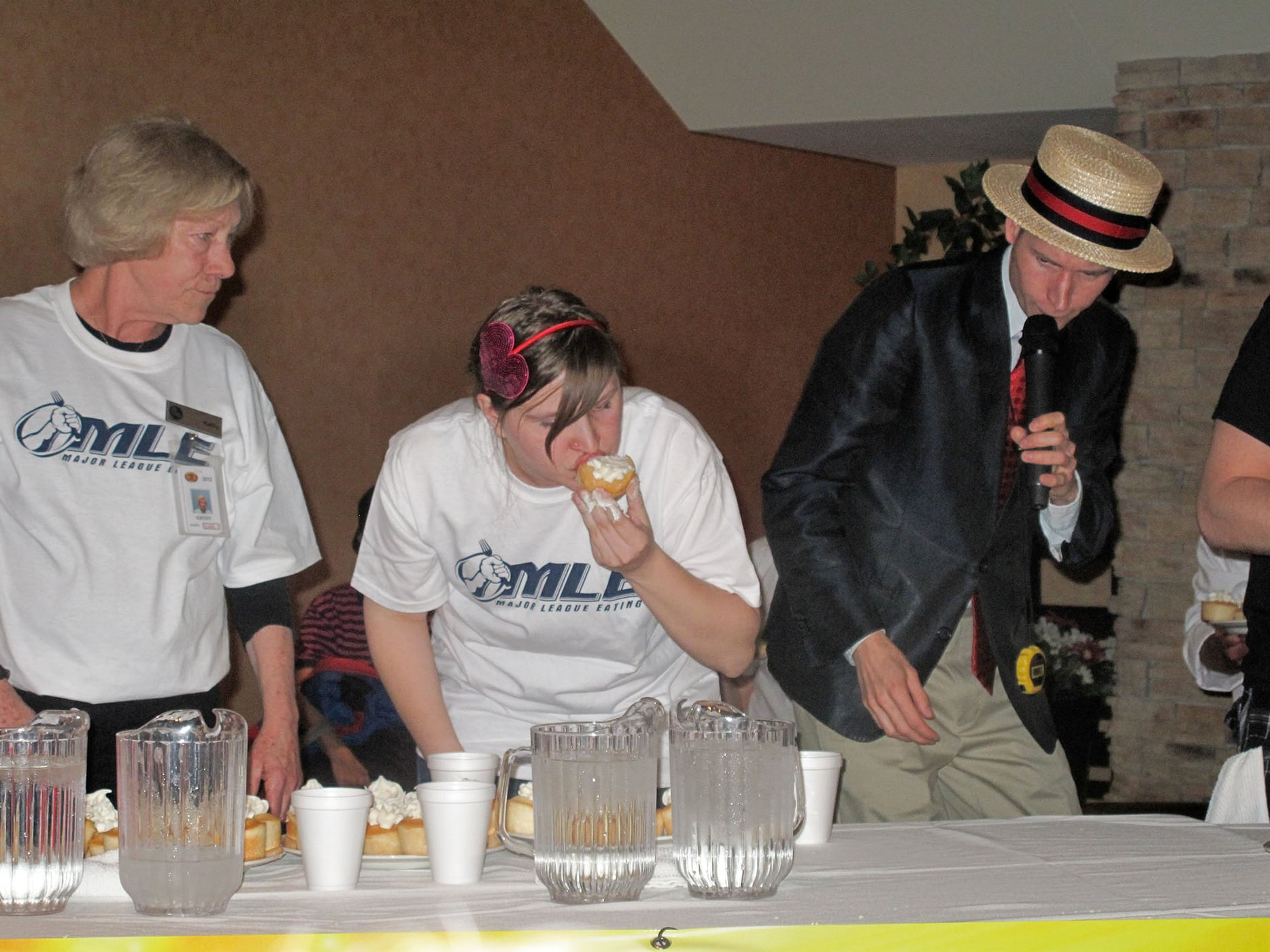 Val makes her competitive eating debut at the World Cupcake Eating championship.