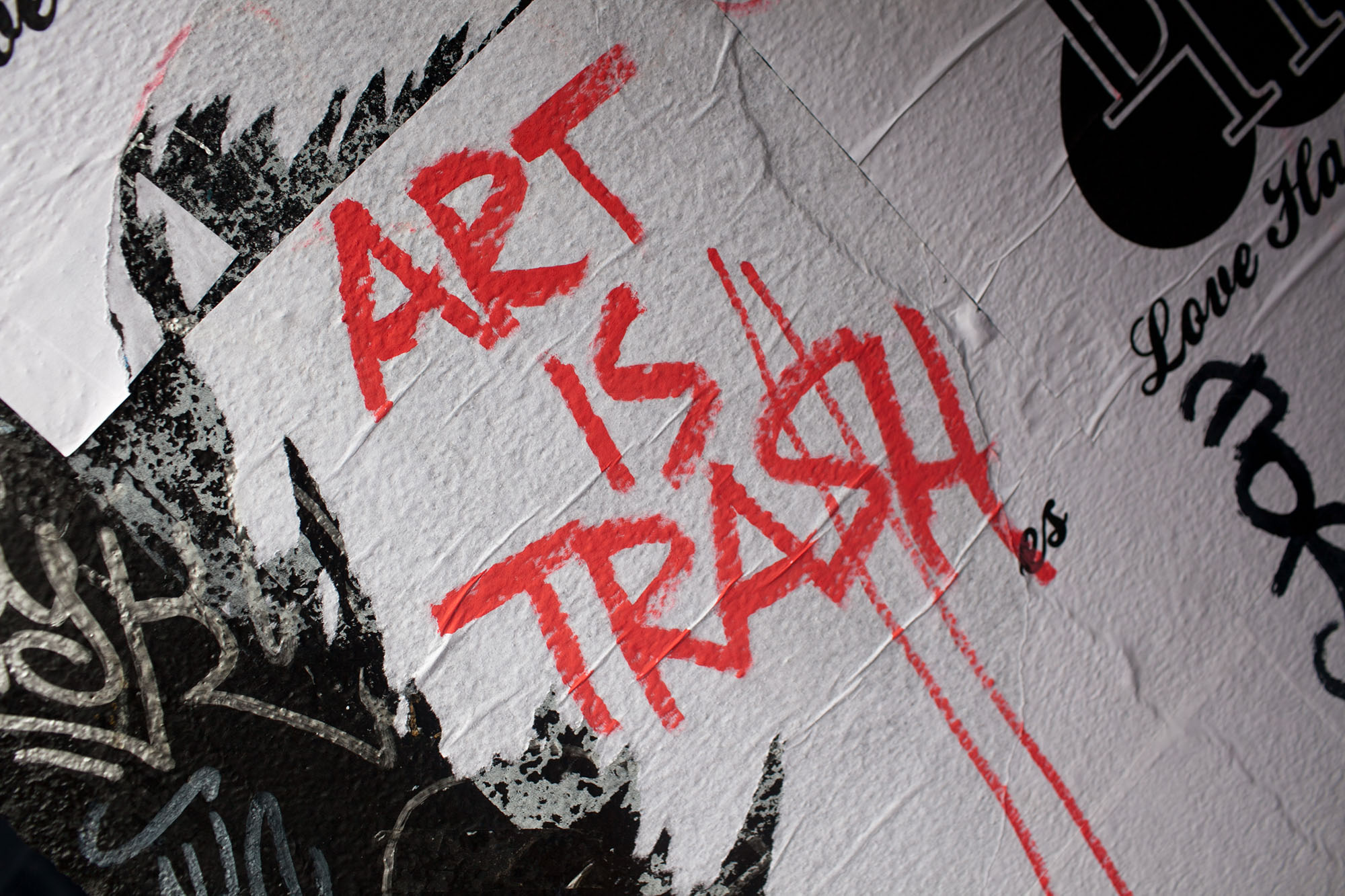 Art is trash | Brick Lane Street Art in London. | Street Art at Brick Lane in London, England.