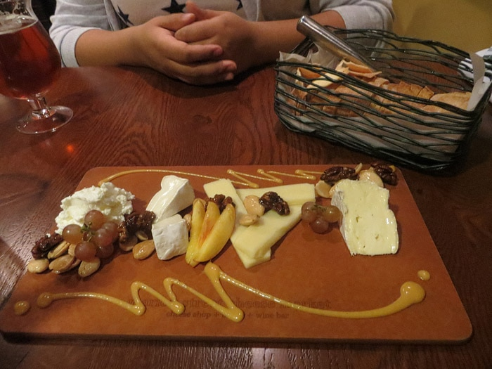 Cheese Plate at Marion Street Cheese Market in Oak Park, Illinois
