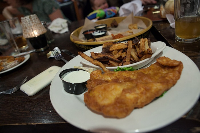Fish and Chips at Tommy Nevins in Naperville, Illinois