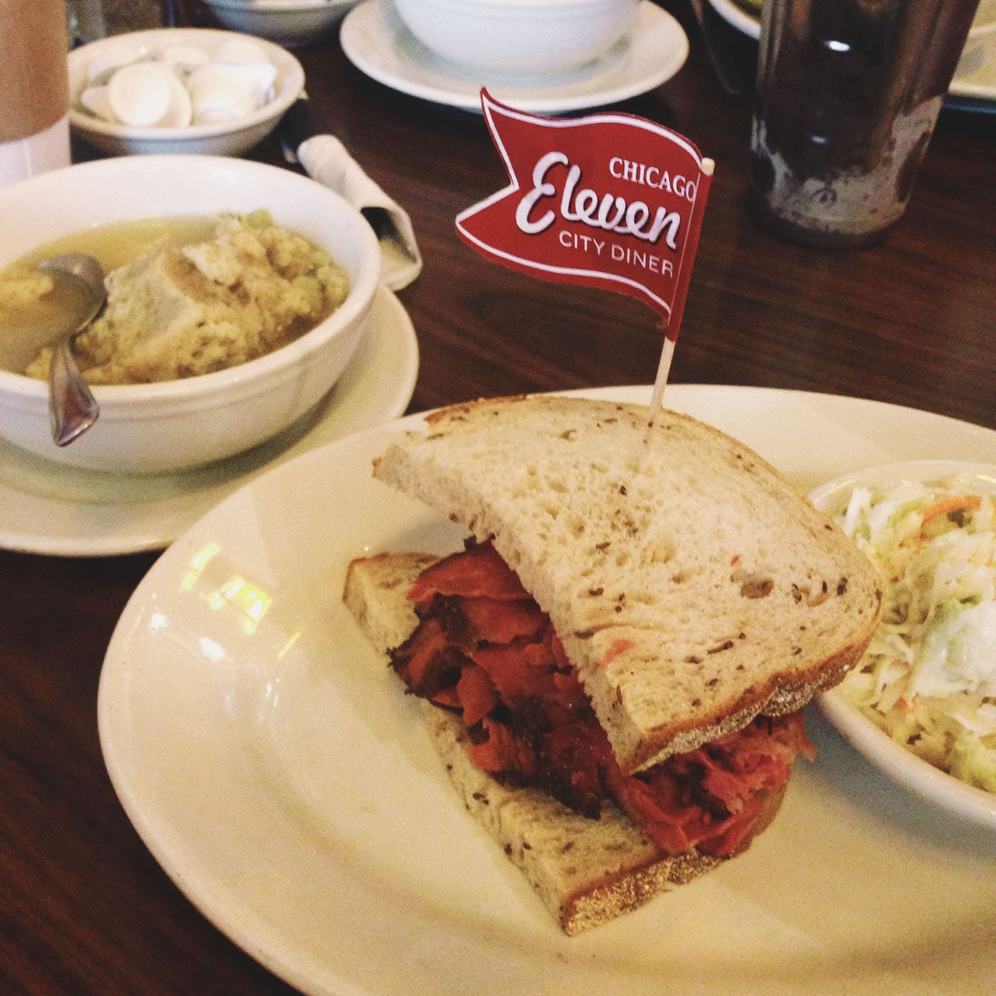 Pastrami sandwich from Eleven City Diner
