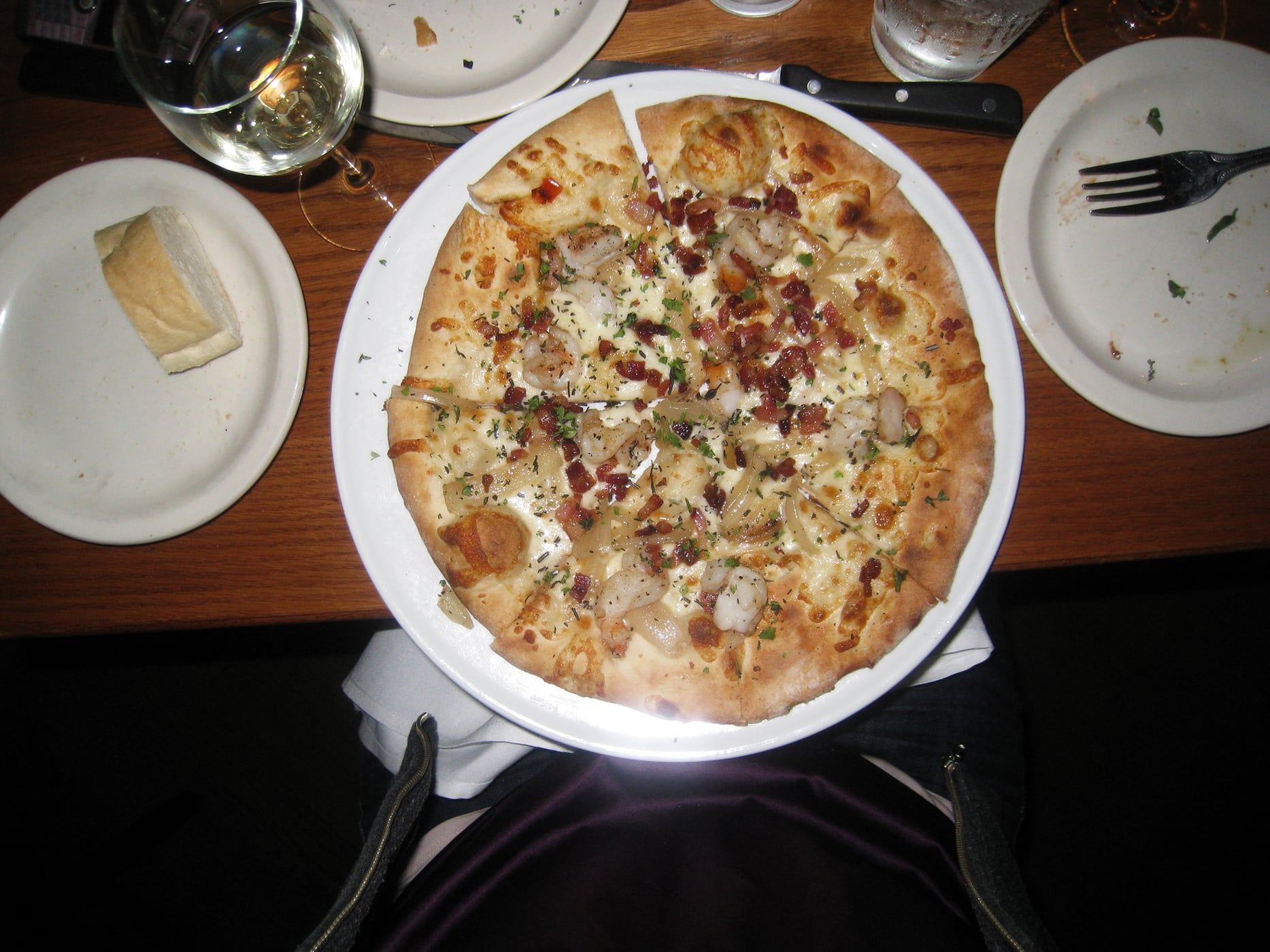 Shrimp and bacon pizza from Frasca