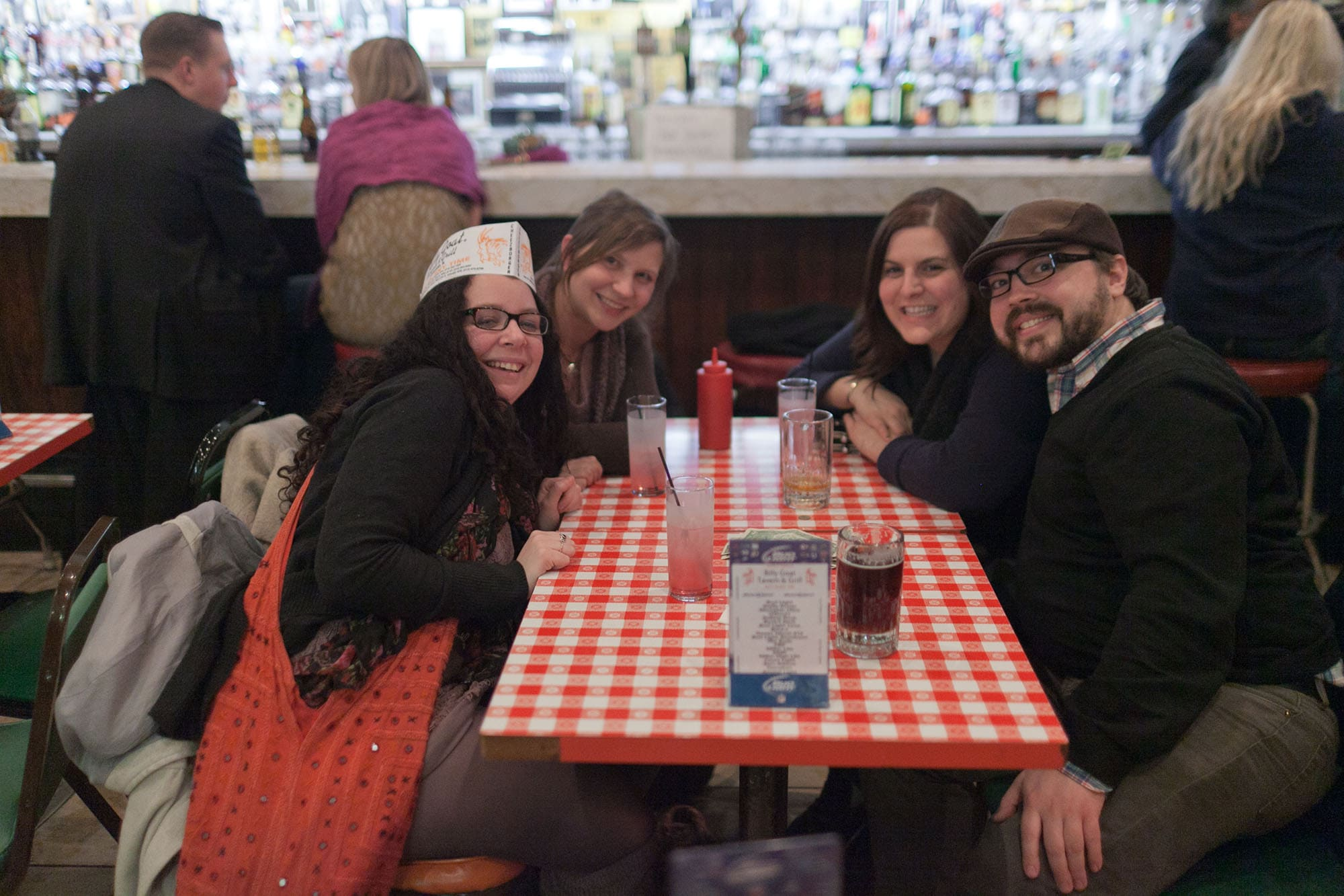 Heather's birthday party at Billy Goat Tavern in Chicago, Illinois.