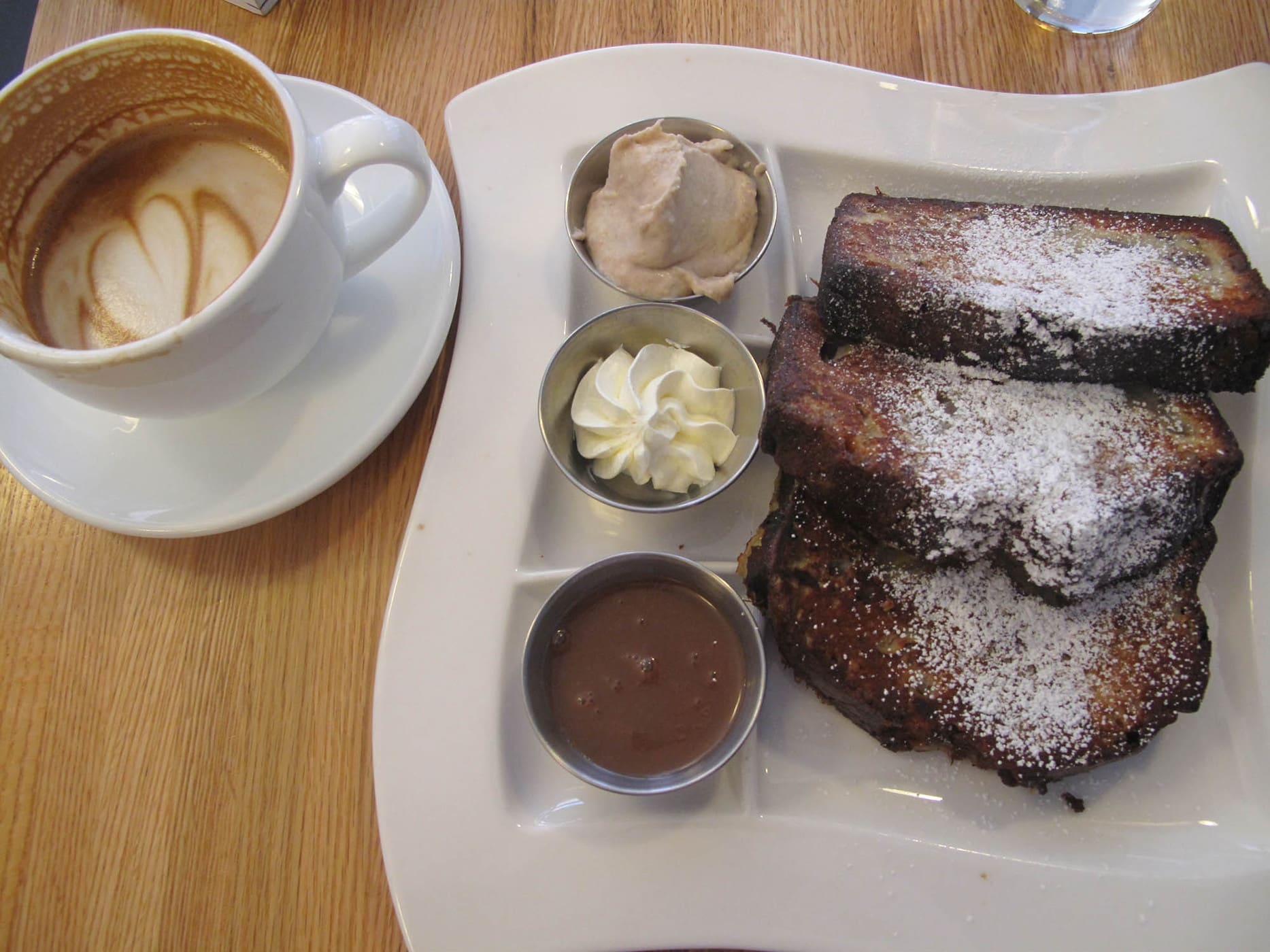 Banana Bread French Toast from Bacon and Eggs.