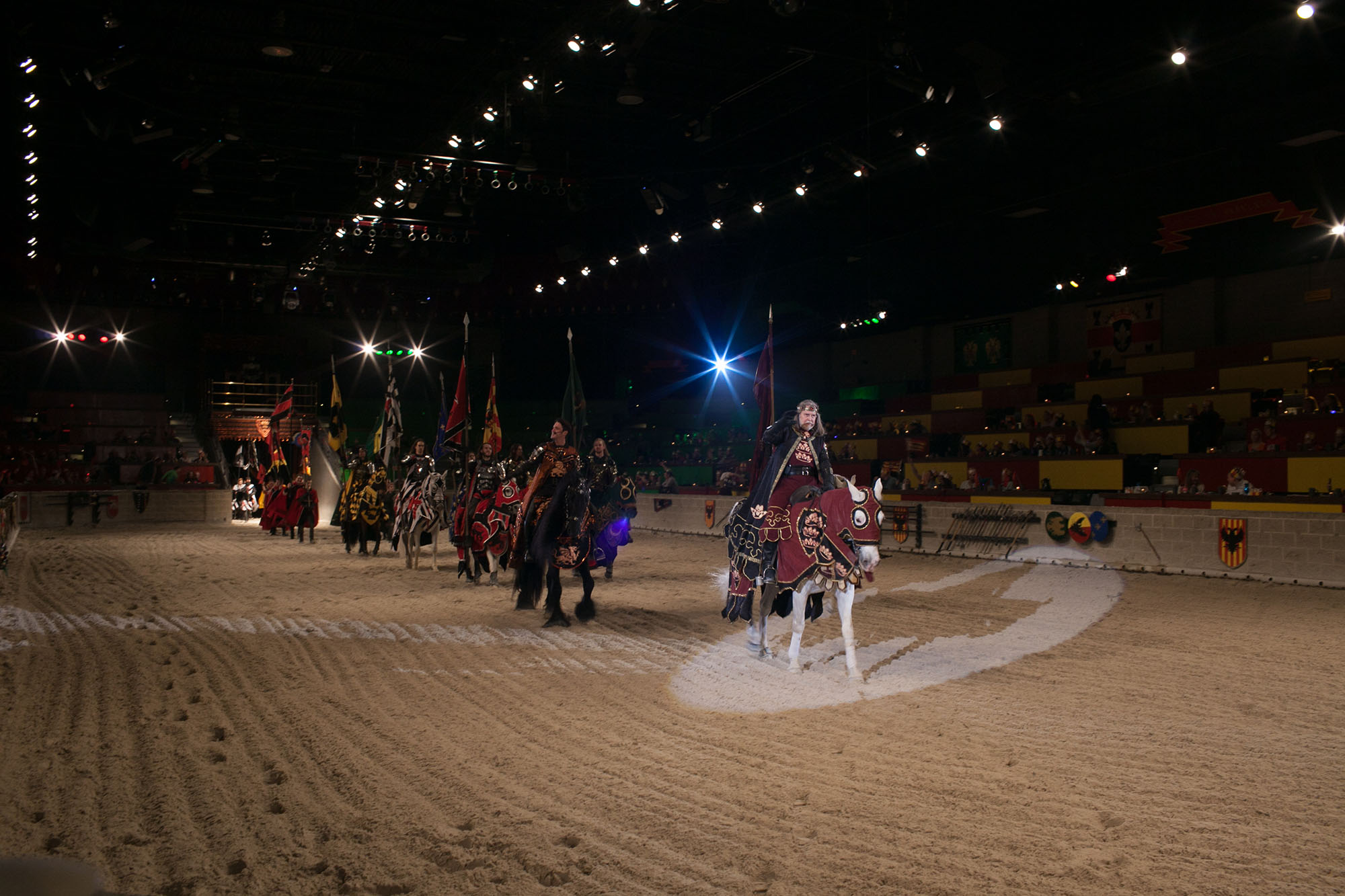 Birthday party at Medieval Times Dinner and Tournament in Schaumburg, Illinois.