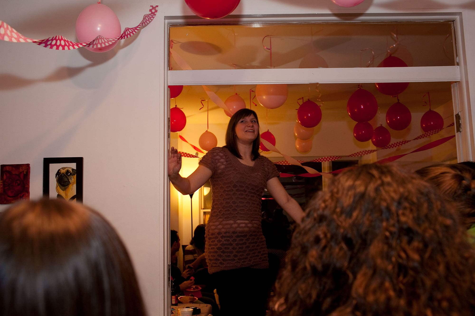 My thirtieth birthday party. Making a big announcement.