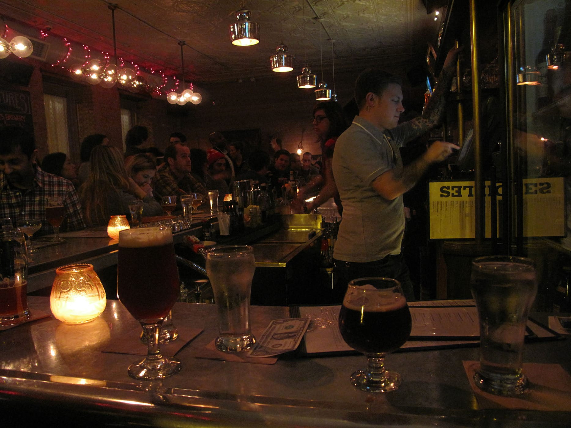 Beers at Bangers and Lace in Chicago, Illinois