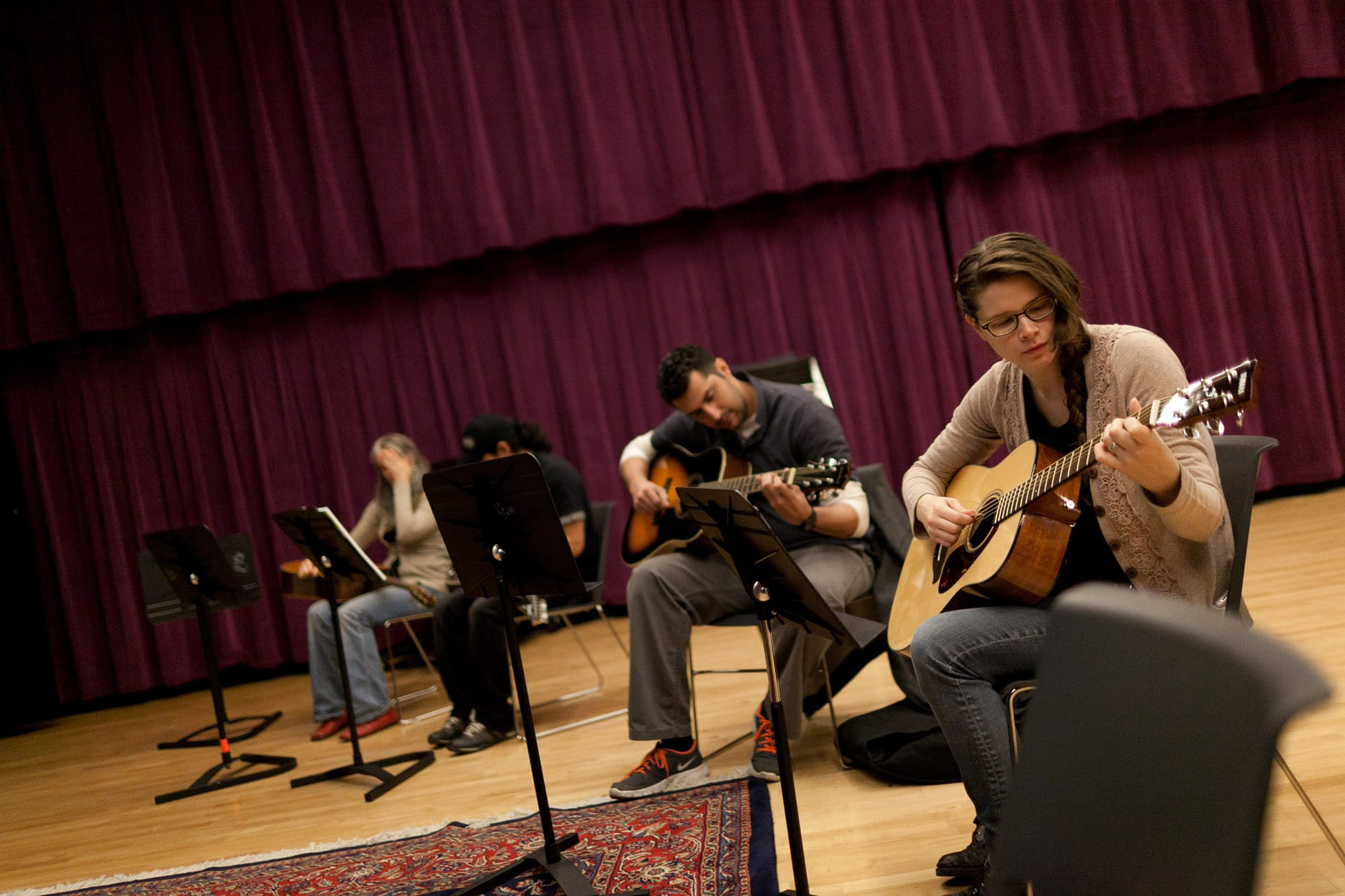 Guitar lessons at Old Town School of Folk Music.