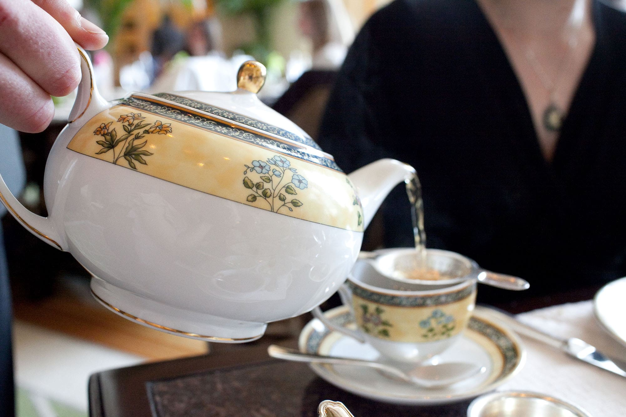 Afternoon tea at the Lobby at The Peninsula in Chicago, Illinois.