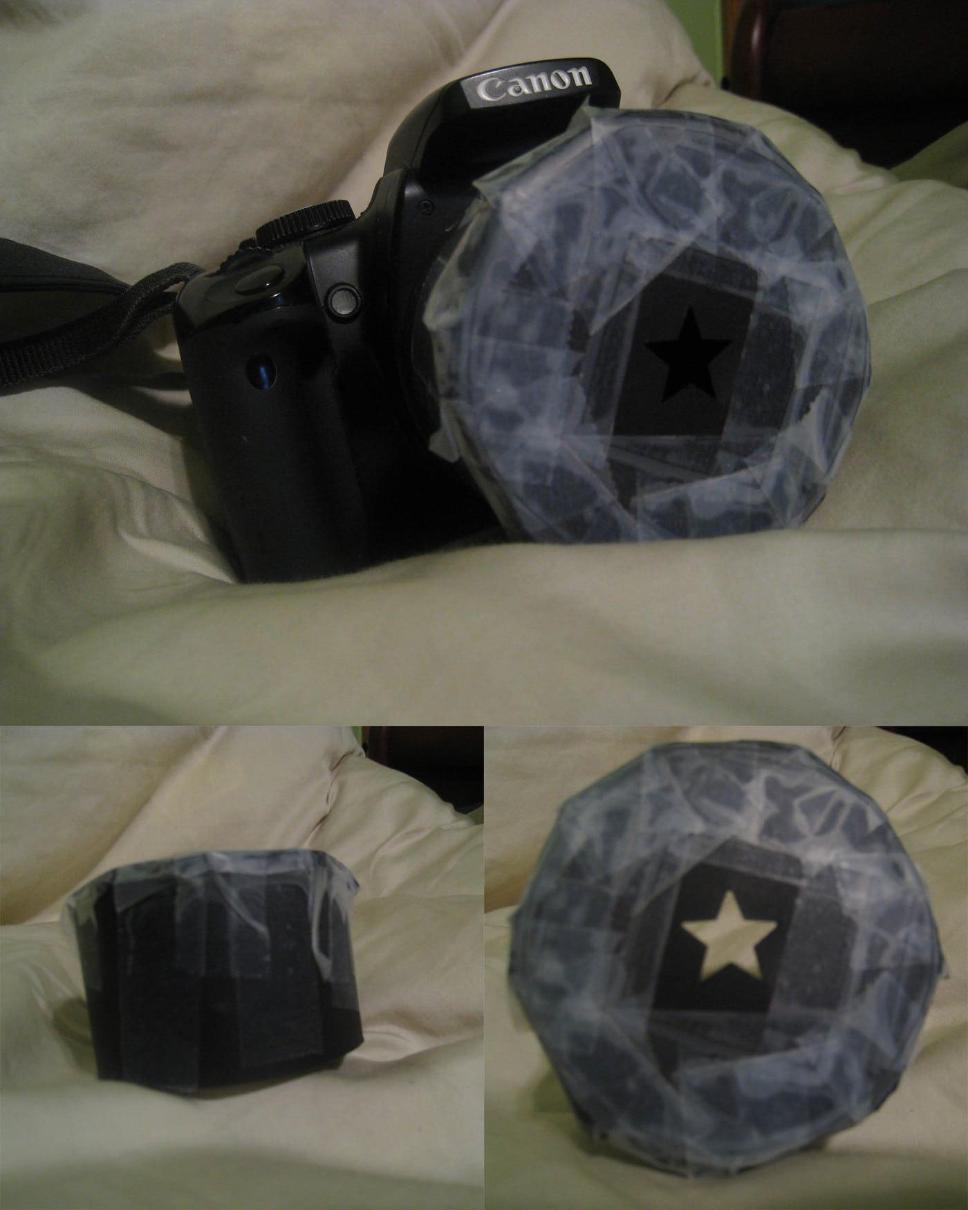 Homemade bokeh star lens