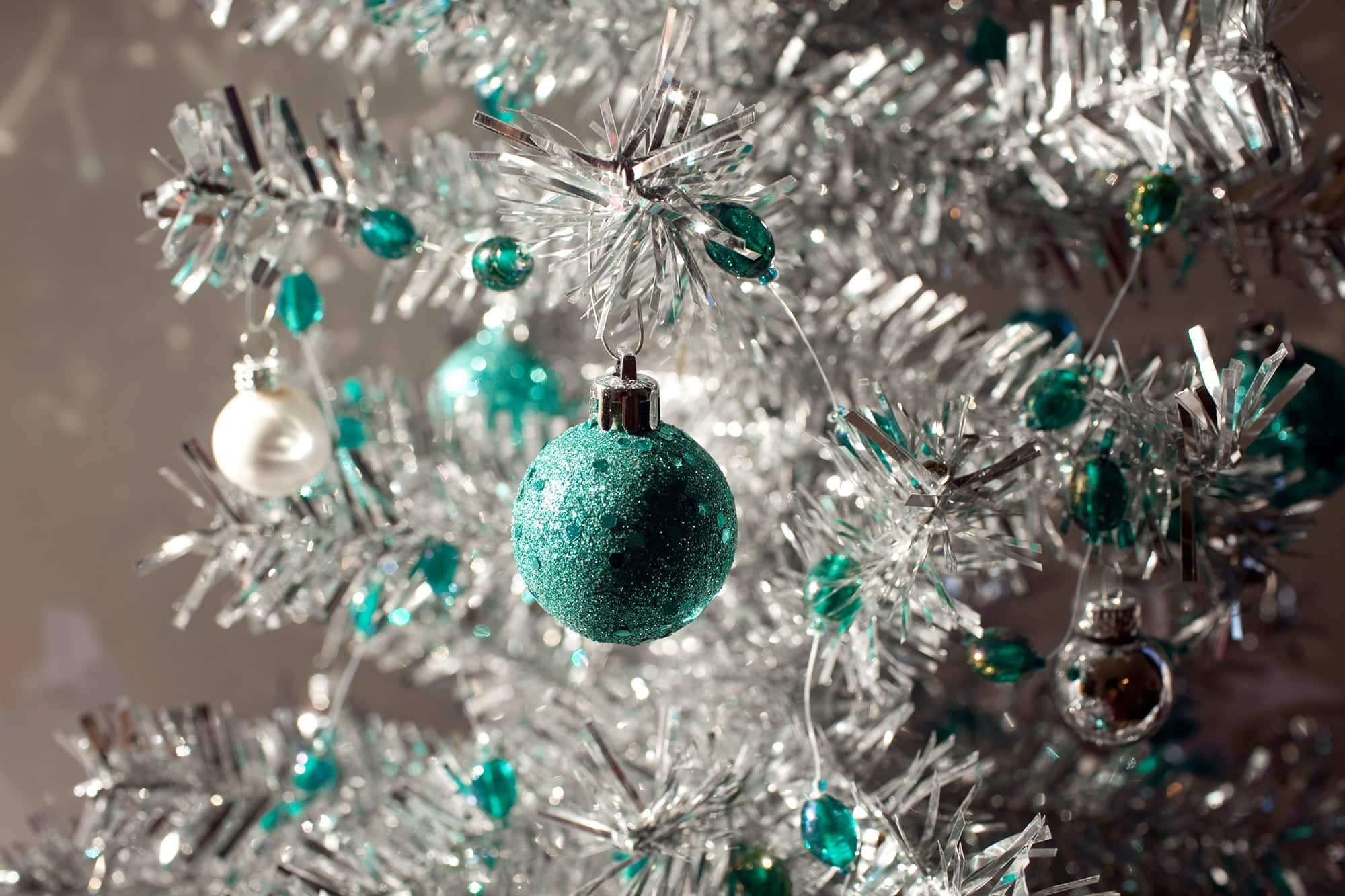 My Small silver metal Christmas tree