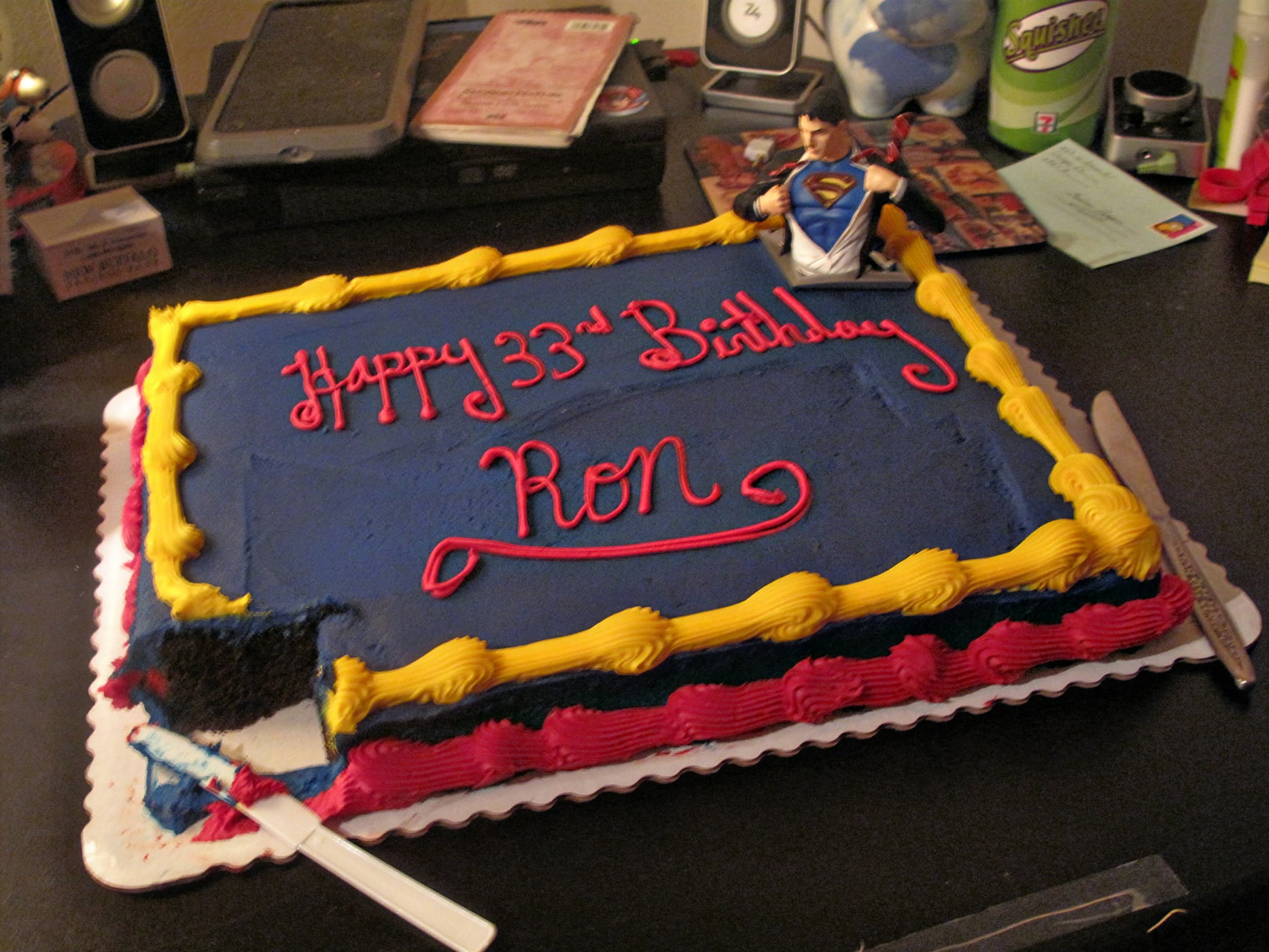 Superman cake for ROn's birthday