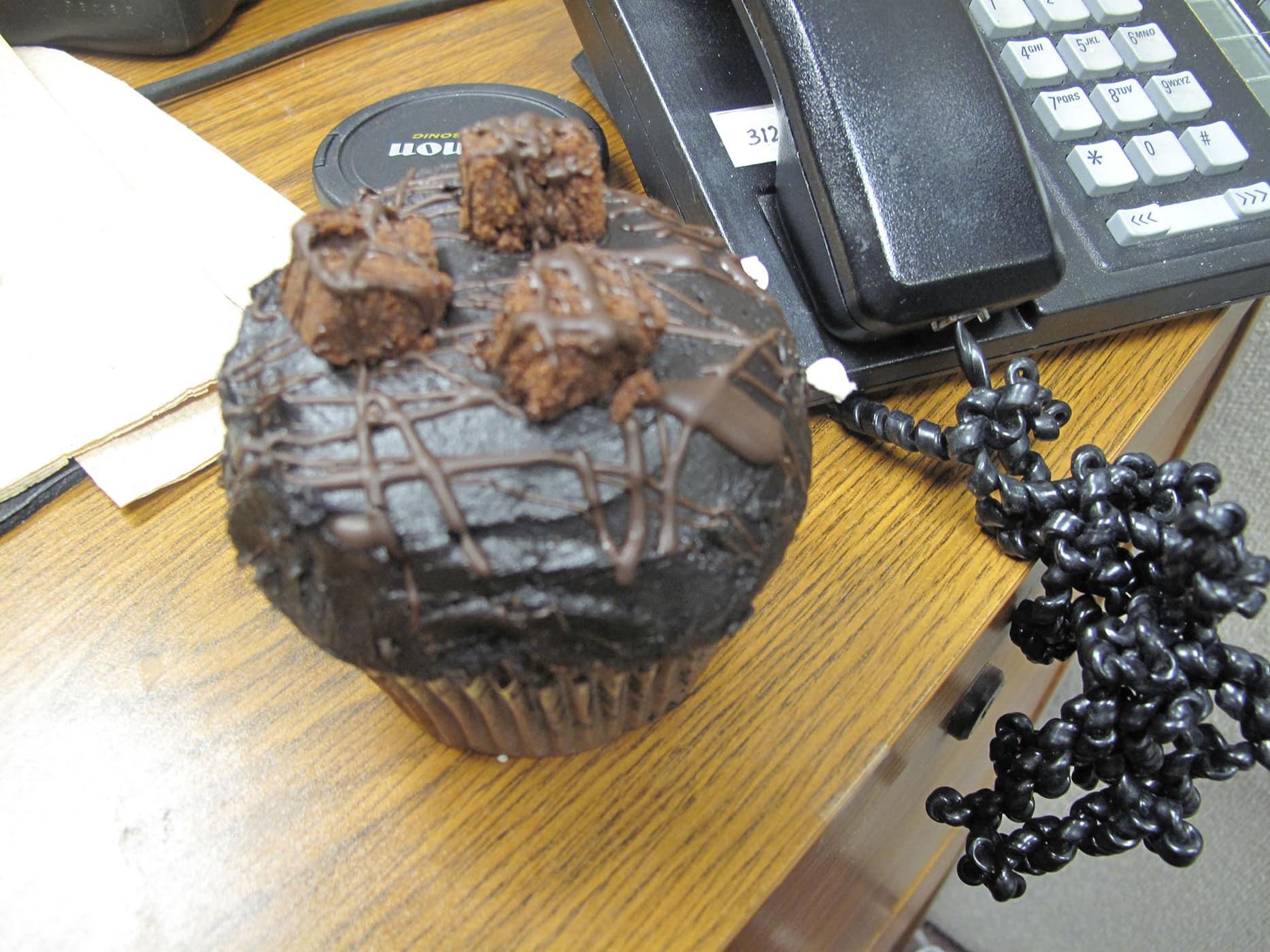 Brownie cupcake from Crumbs Bake Shop