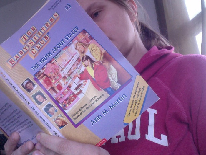 Val reads Baby-Sitters Club Book #3 - The Truth About Stacey