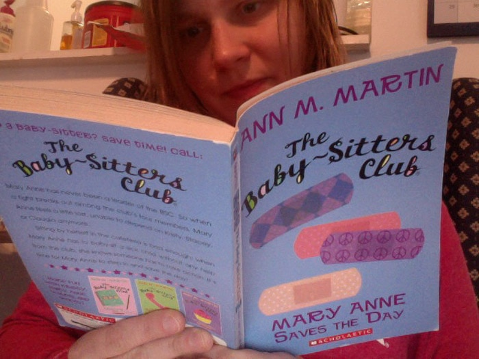 Val reads Baby-Sitters Club Book #4 - Mary Anne Saves the Day