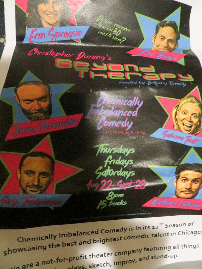 Beyond Therapy at Chemically Imbalanced Comedy in Chicago, Illinois