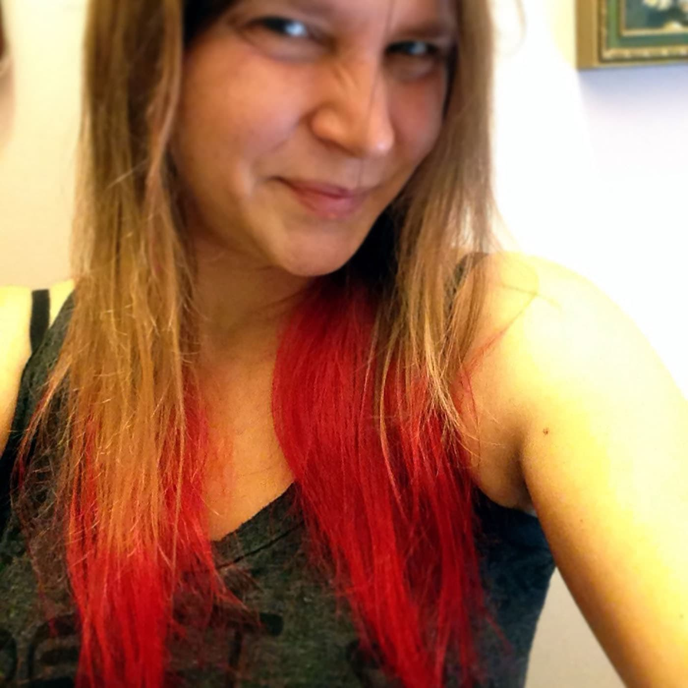 Red hair dye.