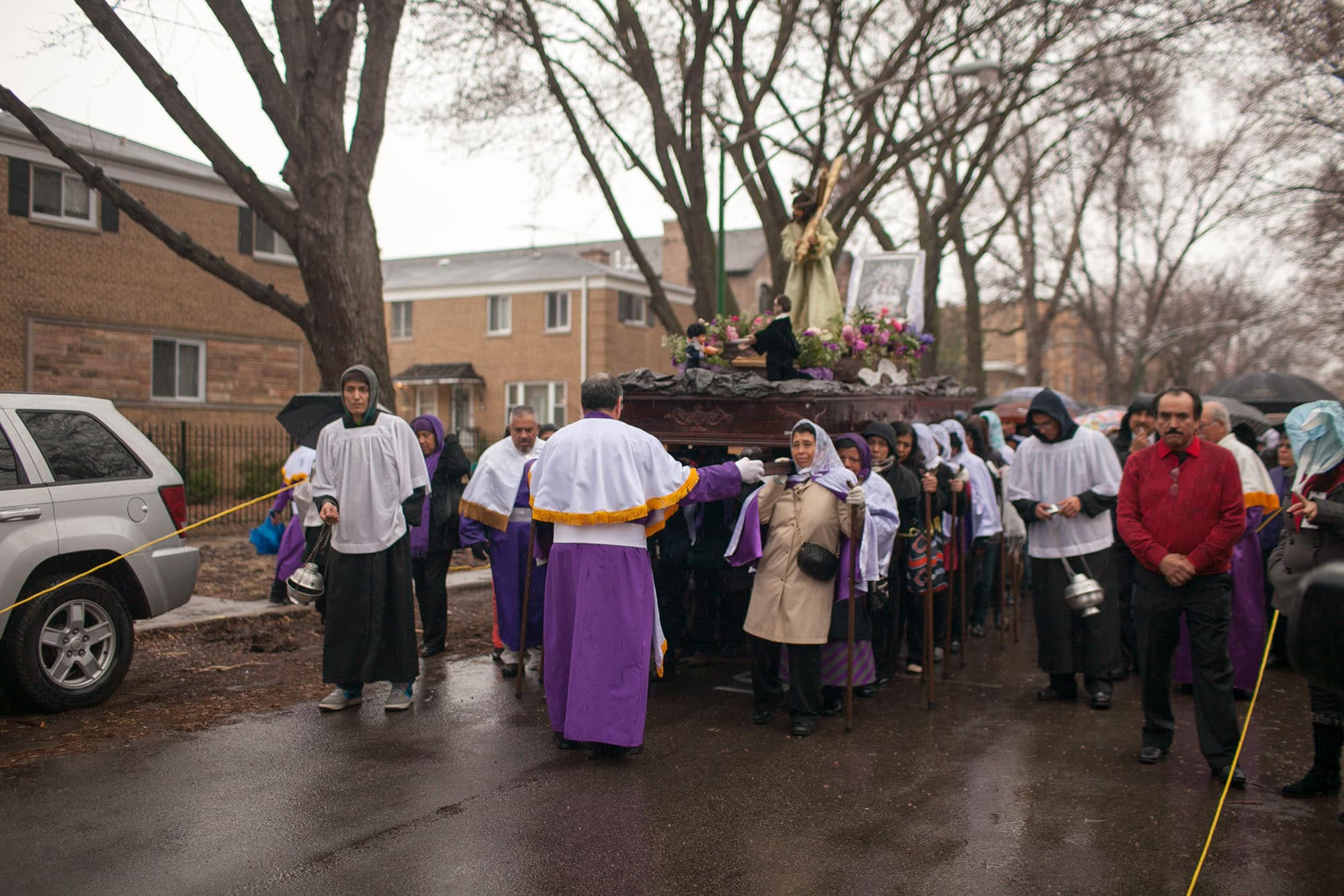 Semana Santa Holy Week Procession in Chicago, Illinois