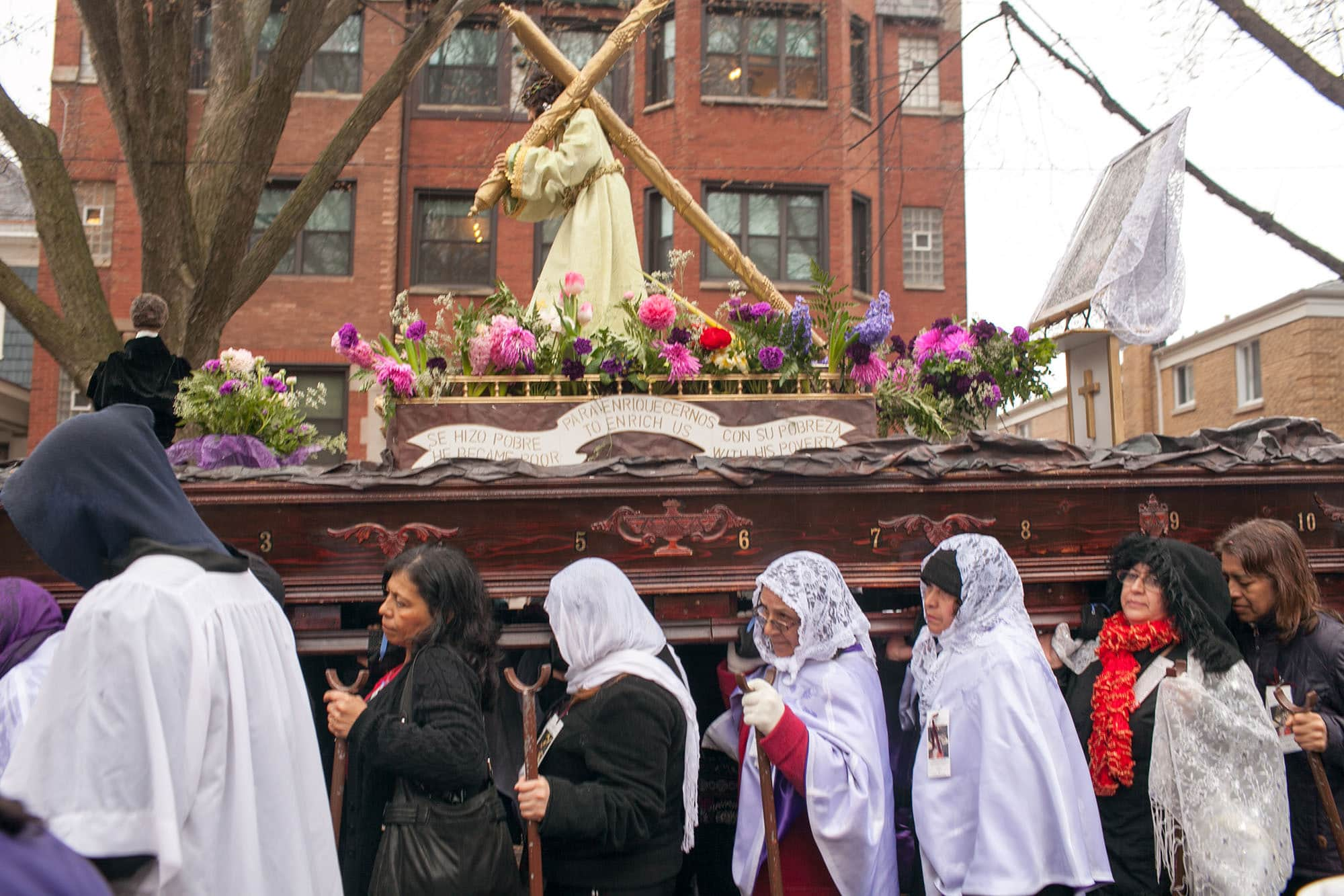 Semana Santa Holy Week Procession in Chicago, Illinois