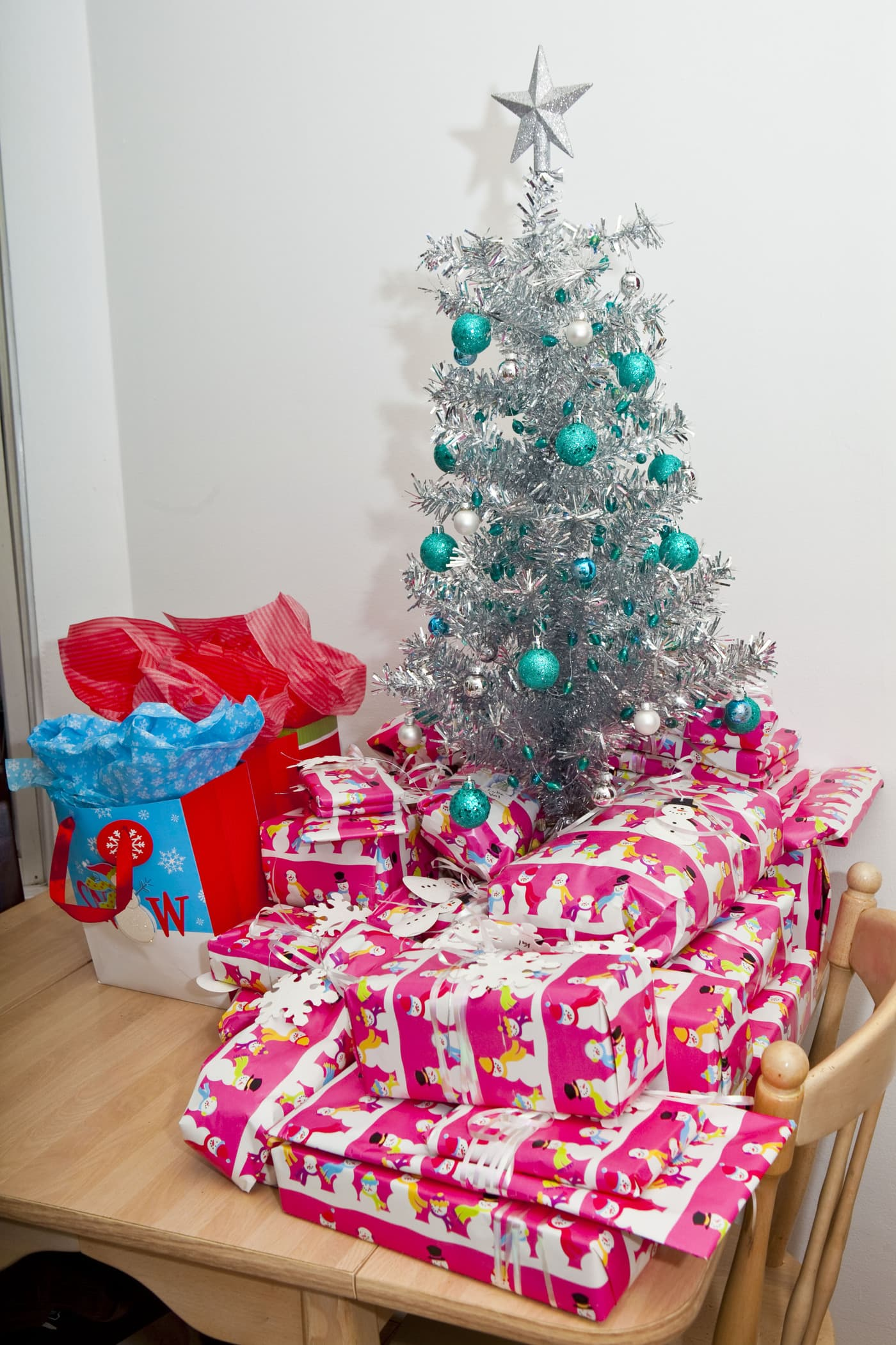 My Christmas tree is up and presents are wrapped.