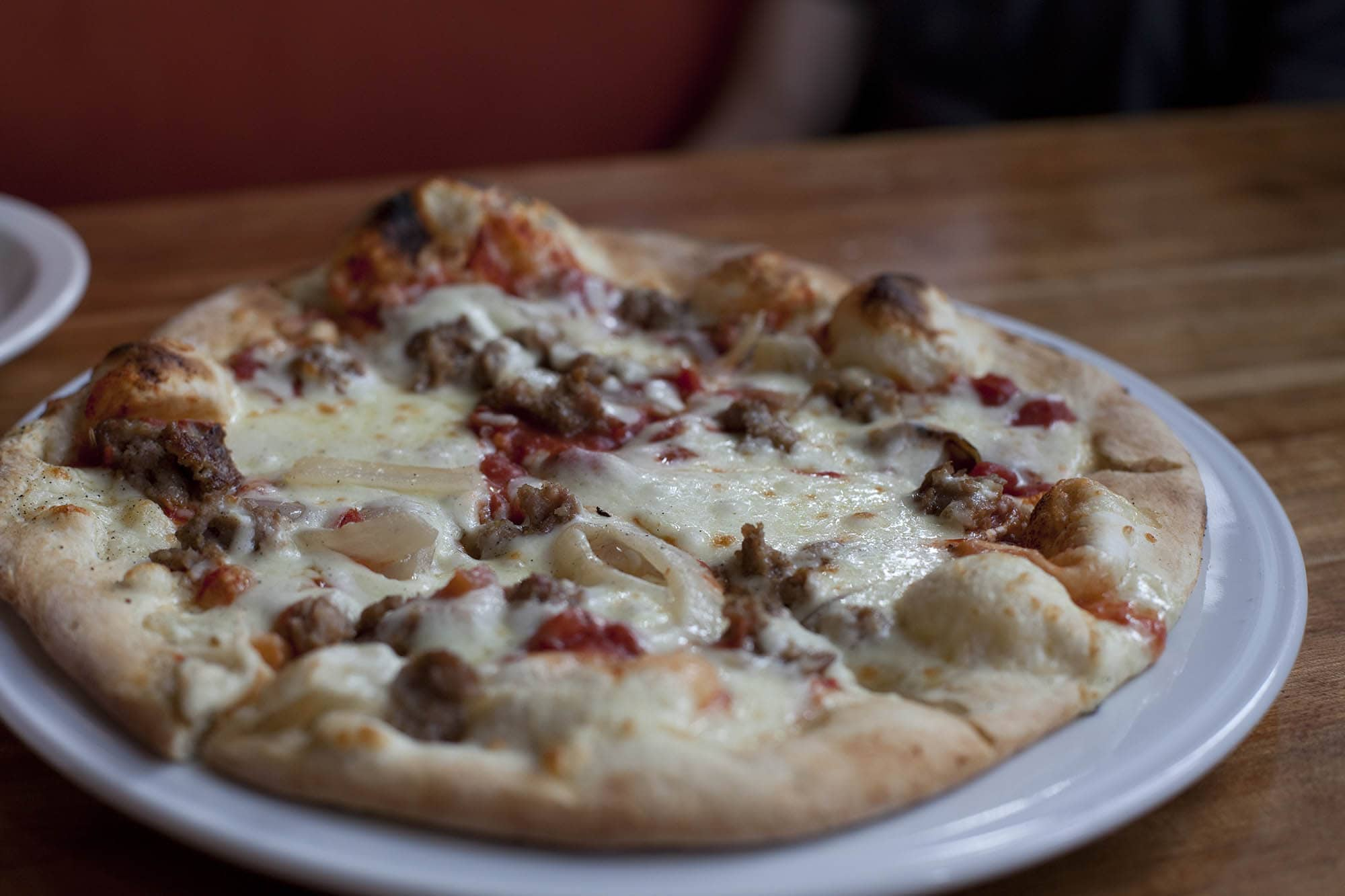 Sausage pizza from Frasca