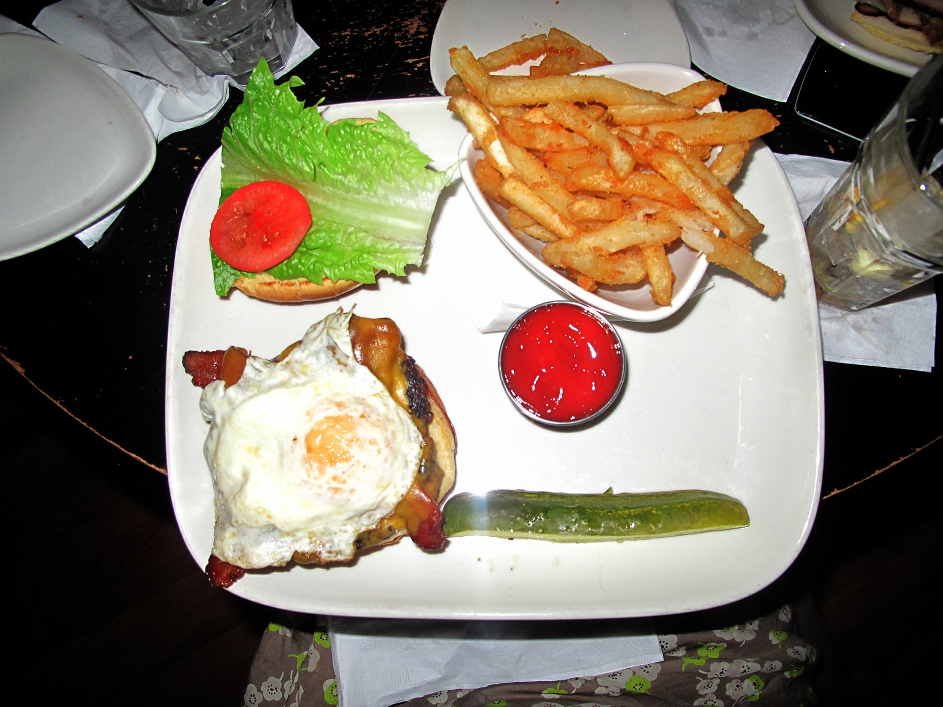 Breakfast Burger at The Reagle Beagle in Chicago, Illinois