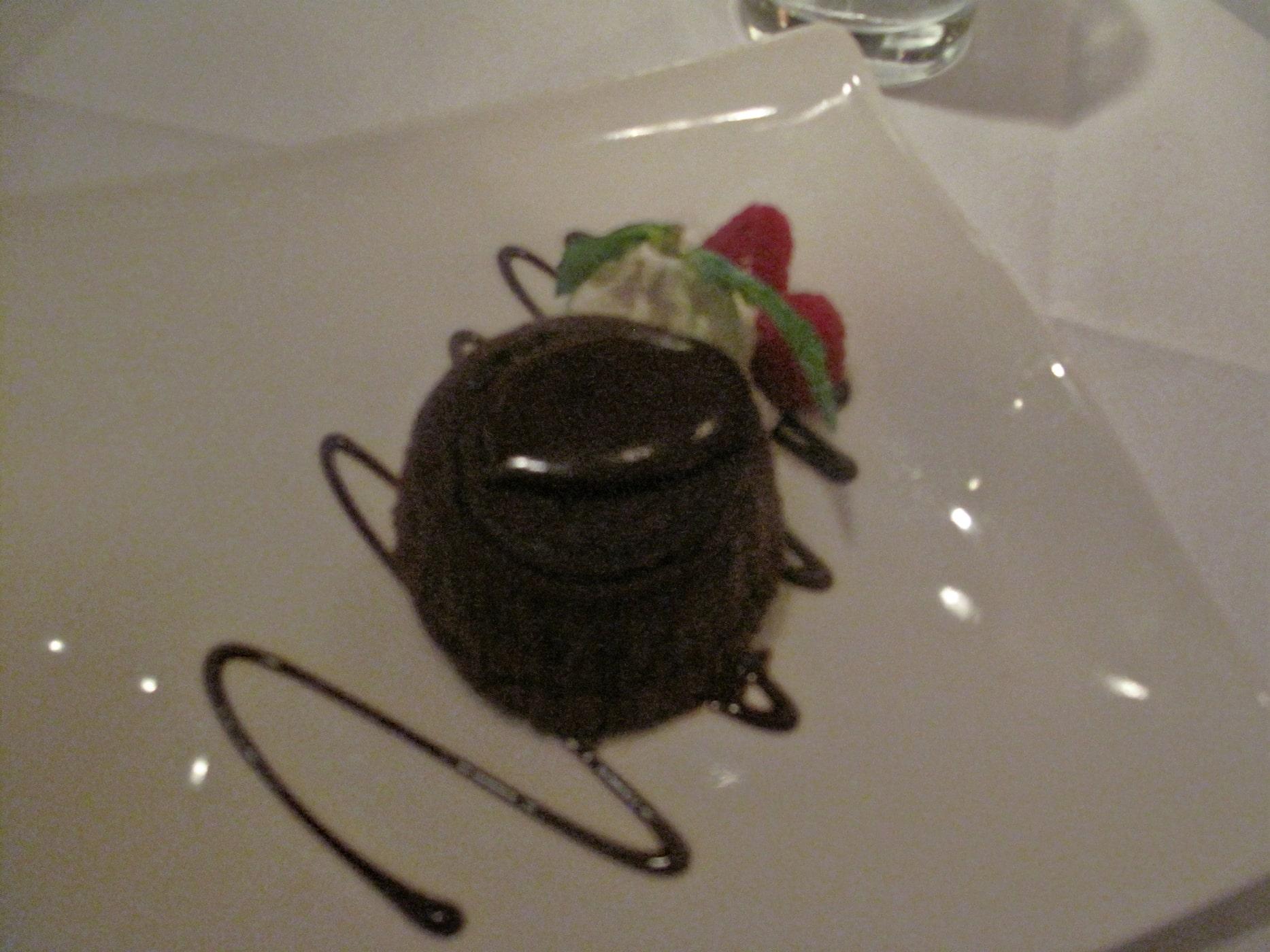 Restaurant week at Trattoria No 10 - chocolate cake