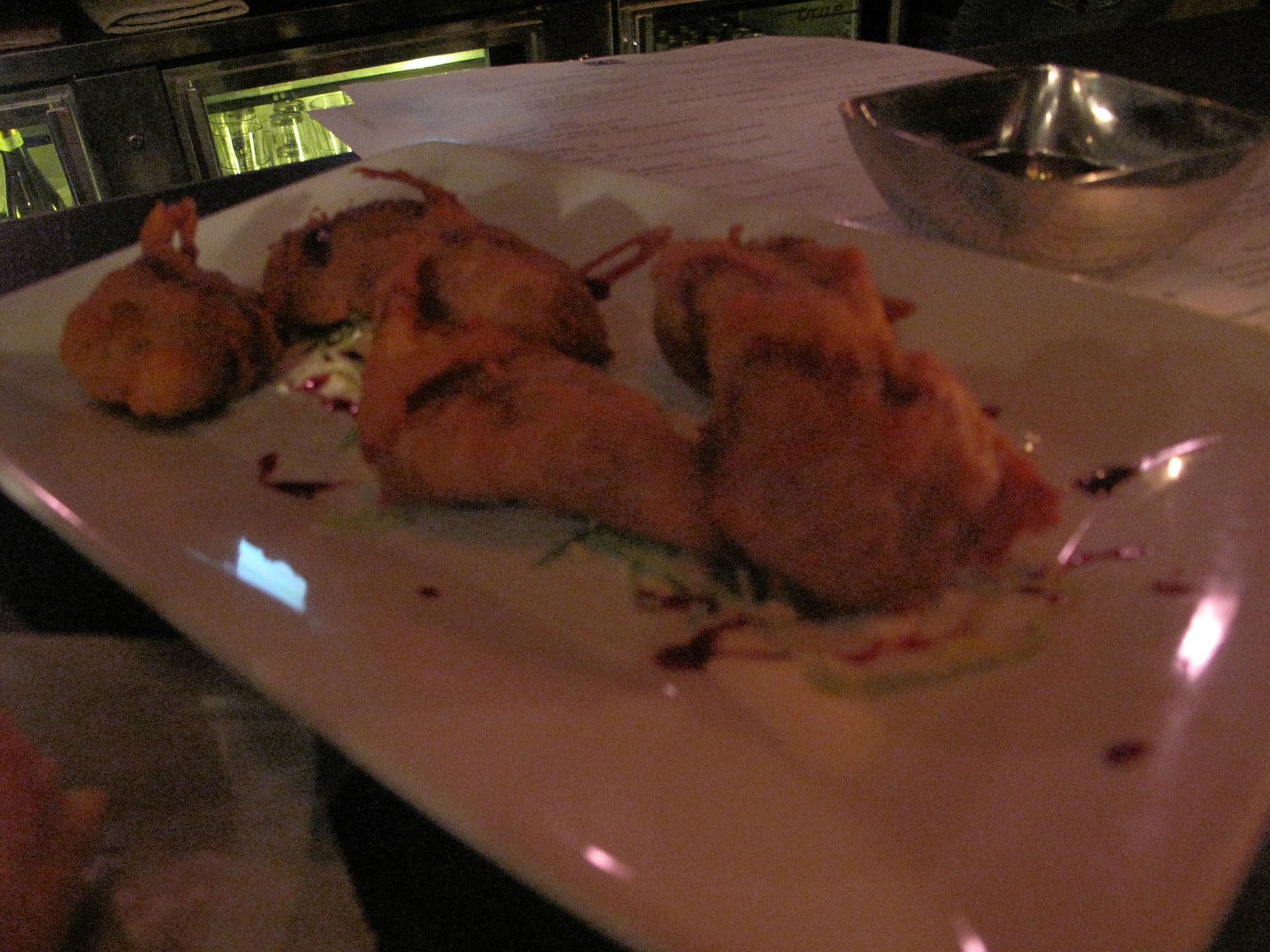 Sweet potato fritters at Volo Wine Bar in Chicago