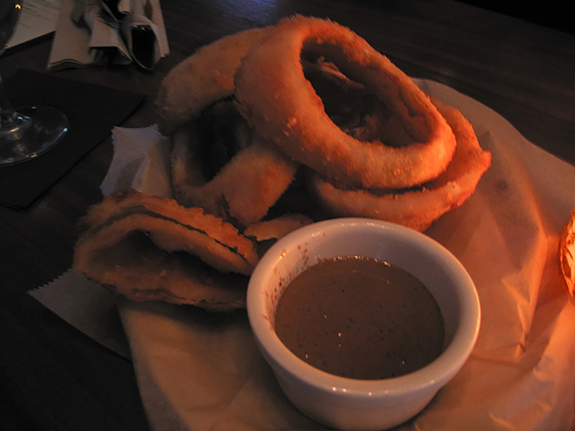 Onion rings from Bangers and Lace in Chicago