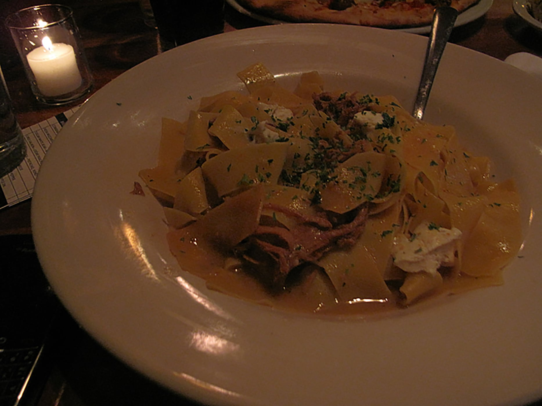 Pappardelle with veal ragu from Frasca Pizzeria