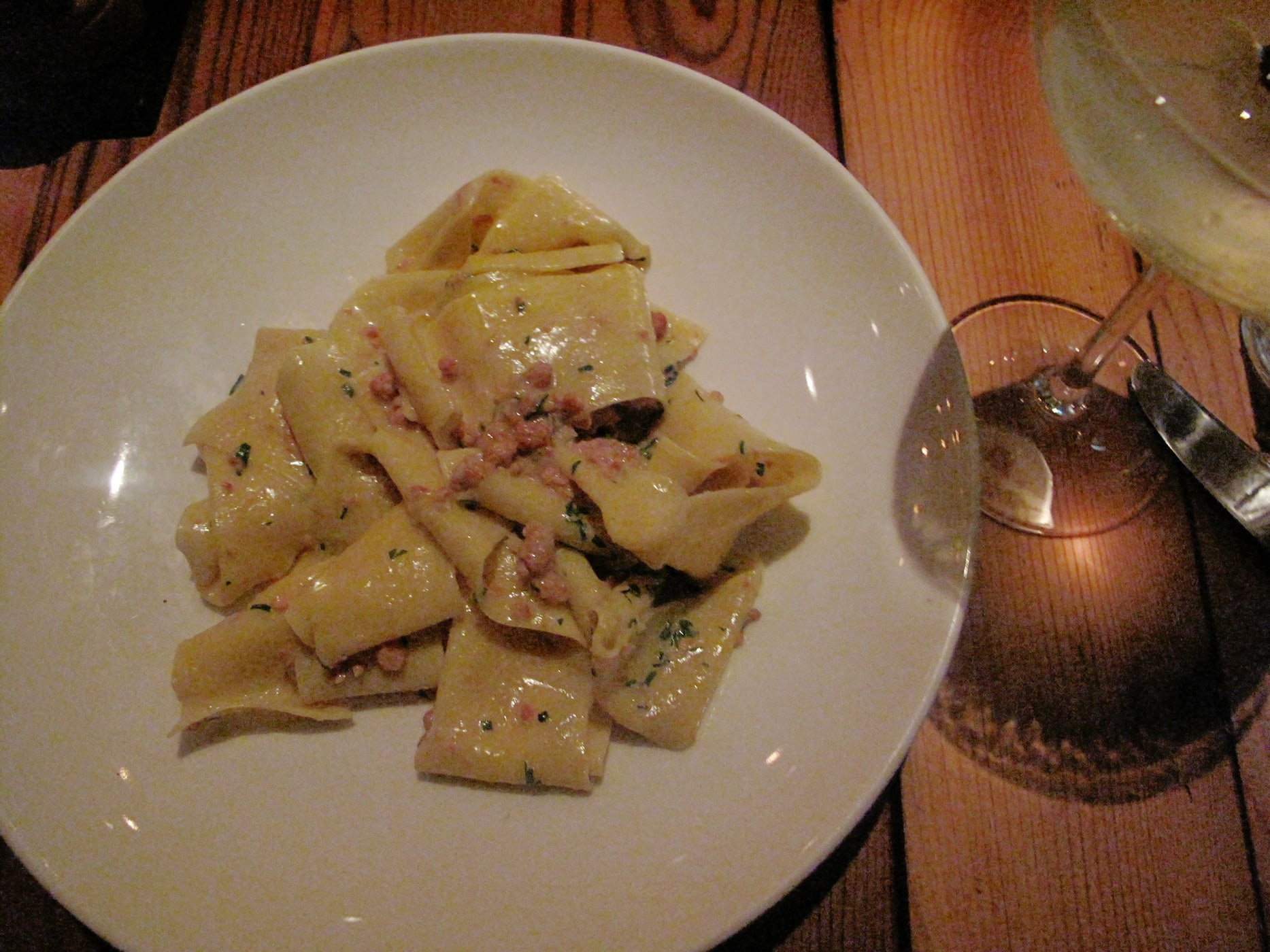 Pappardelle with suckling pig ragu from The Bristol