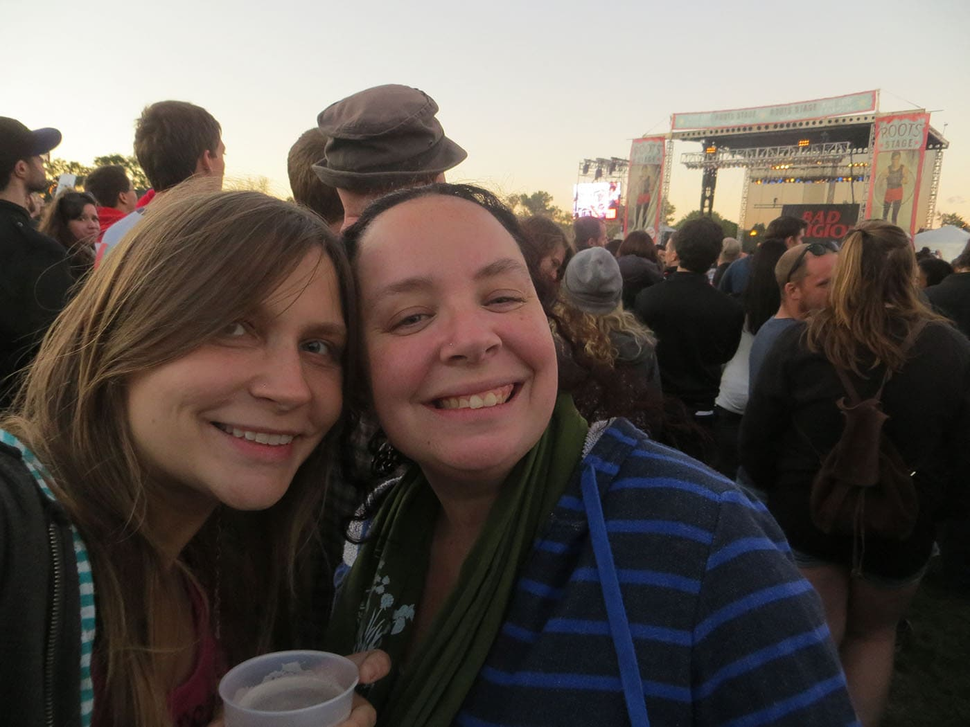 Heather and Val at the Bad Religion Concert at Riot Fest Chicago 2013