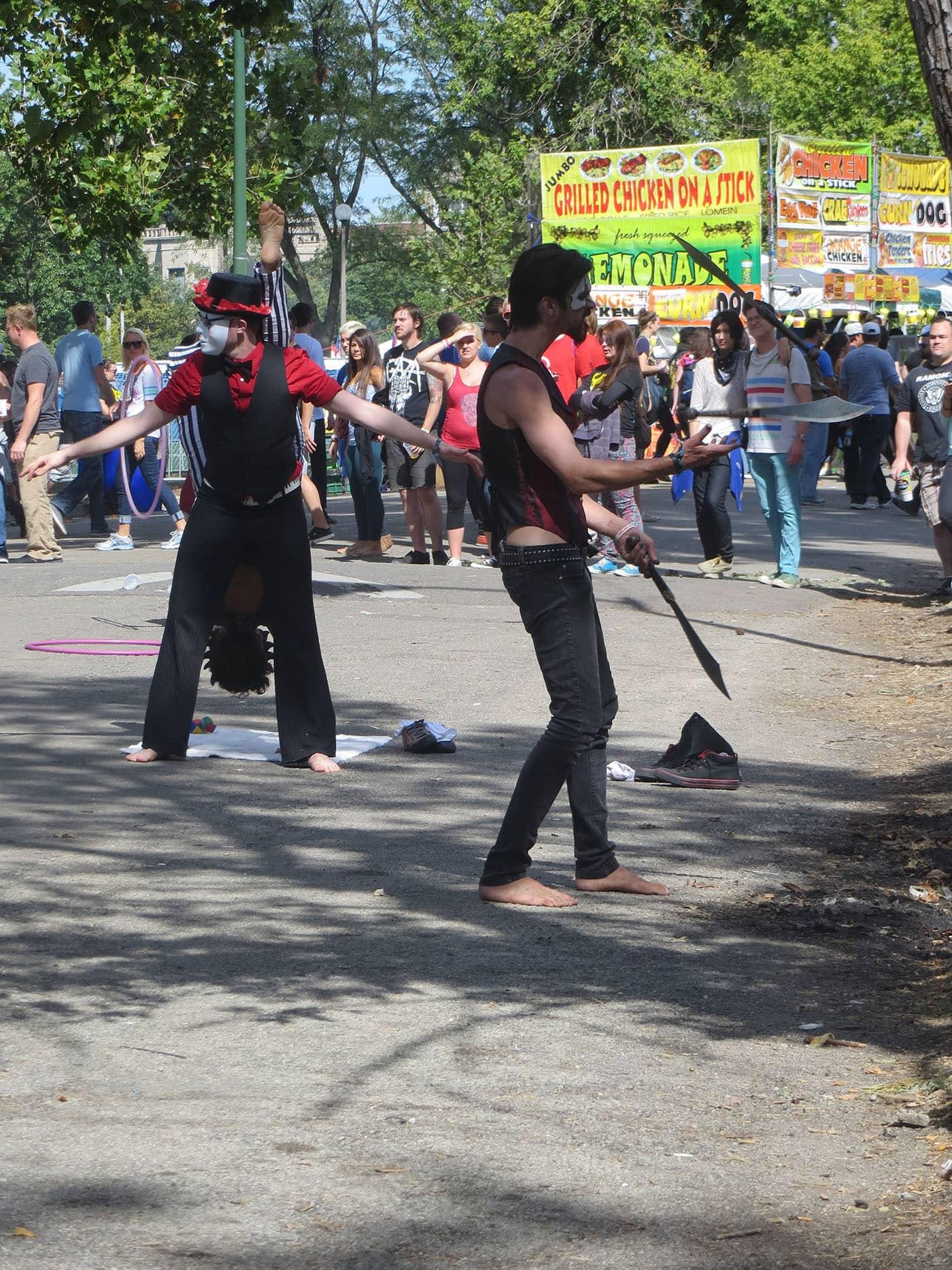 Knife juggler at Riot Fest Chicago 2013
