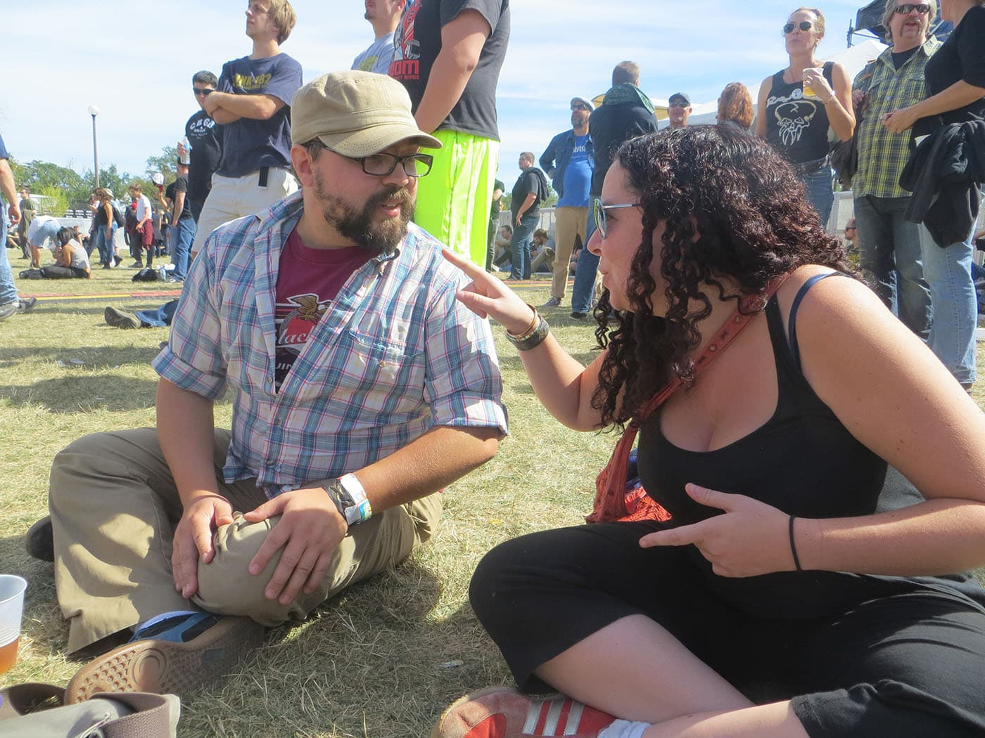 Heather and Jeremy at Riot Fest Chicago 2013