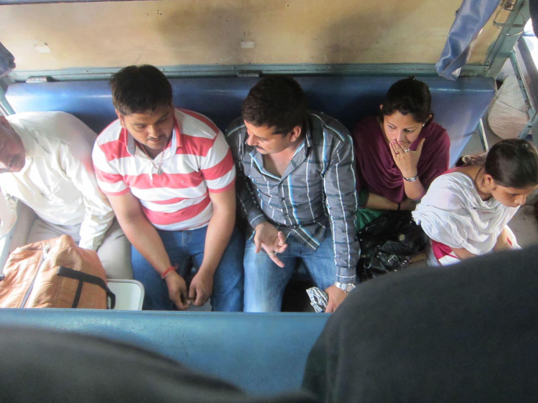 24 hour train ride through India.