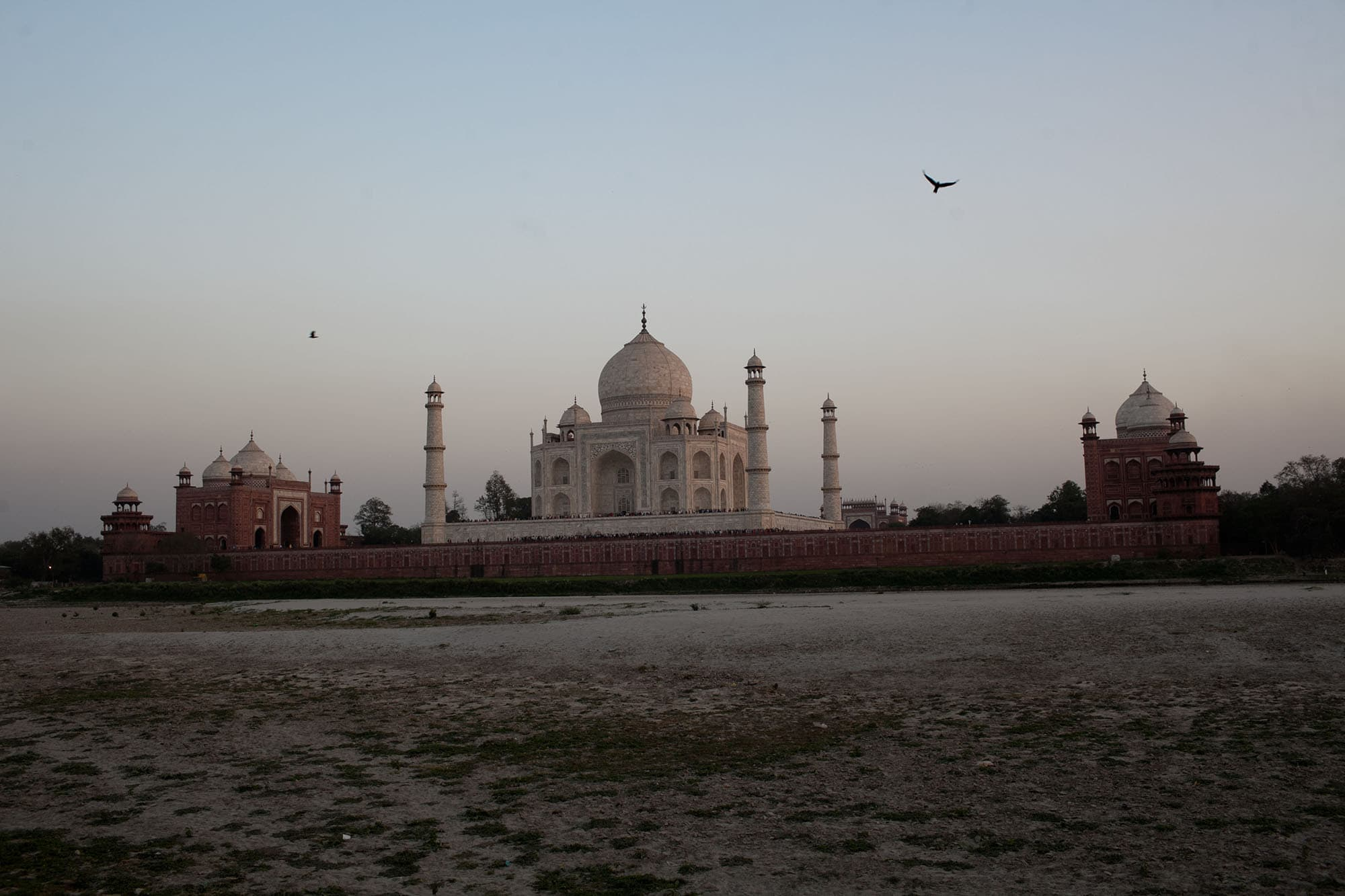 Sunset at the Taj Mahal in Agra, India