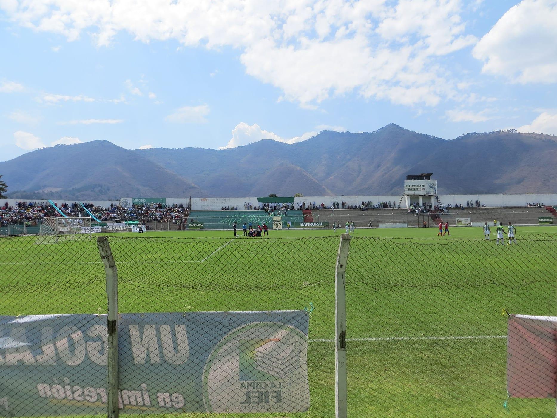Football (soccer) game in Antigua, Guatemala