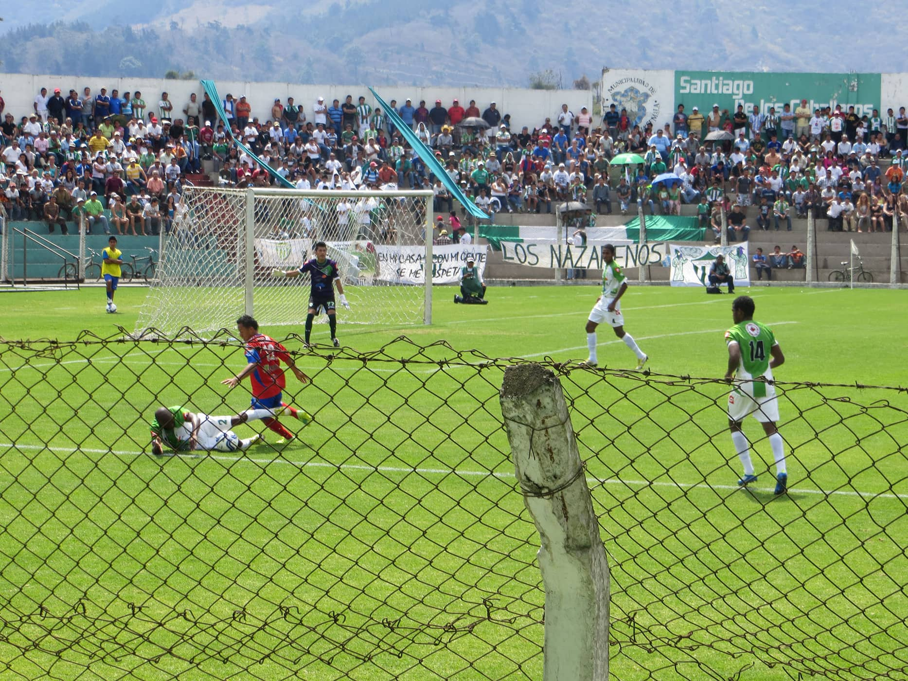 Football (soccer) game in Antigua, Guatemala
