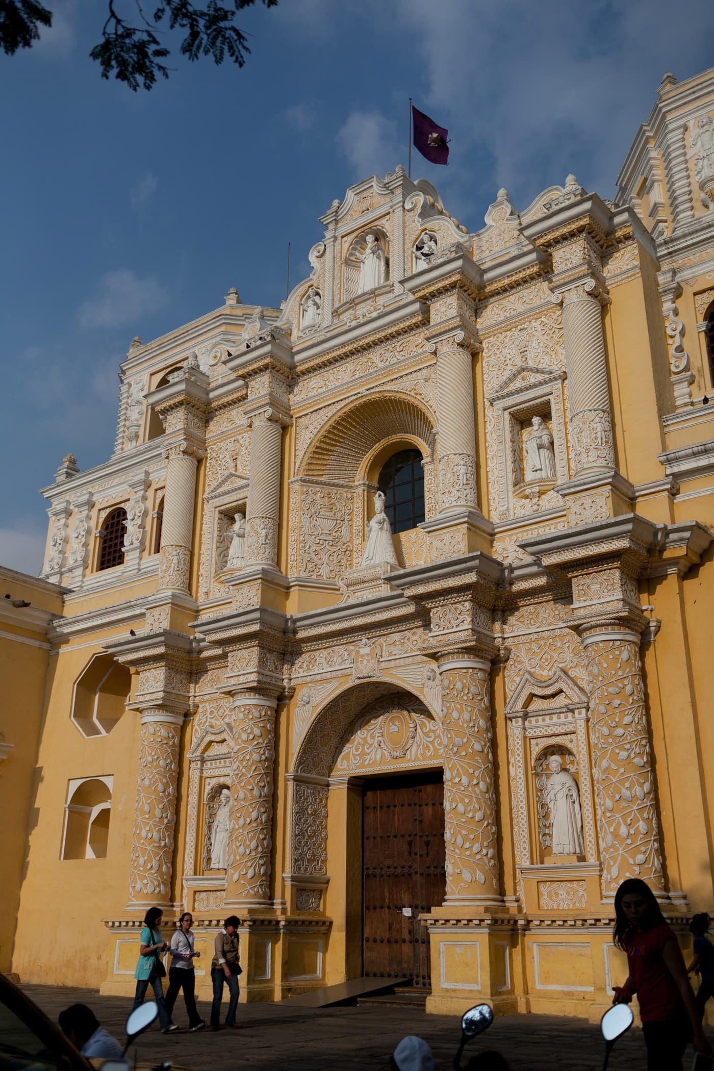 Iglesia de Nuestra Sentar de la Merced in Antigua, Guatemala.