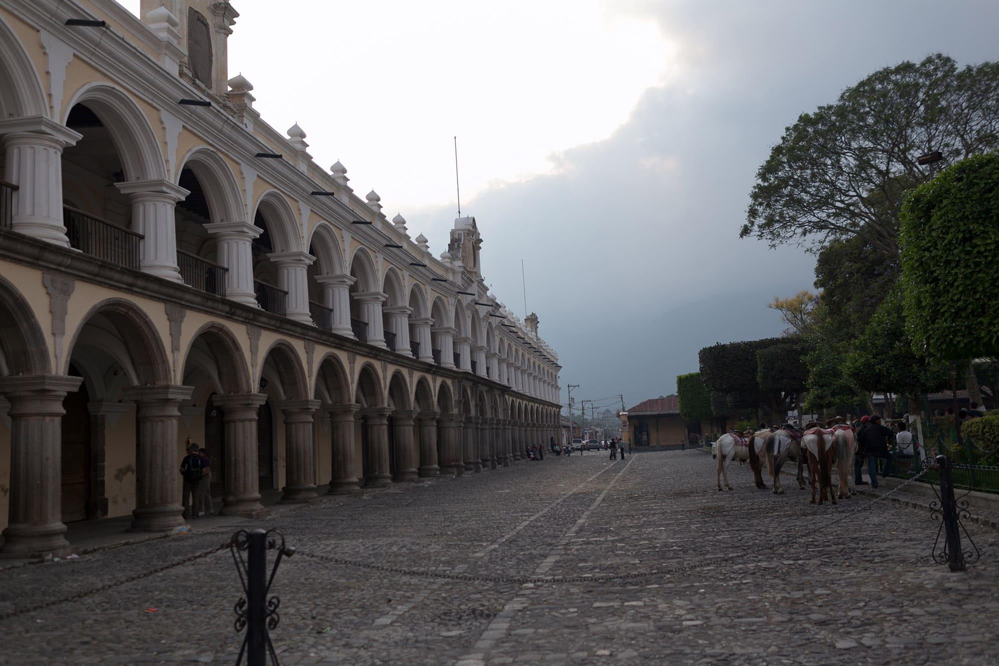 Parque Central in Antigua, Guatemala.