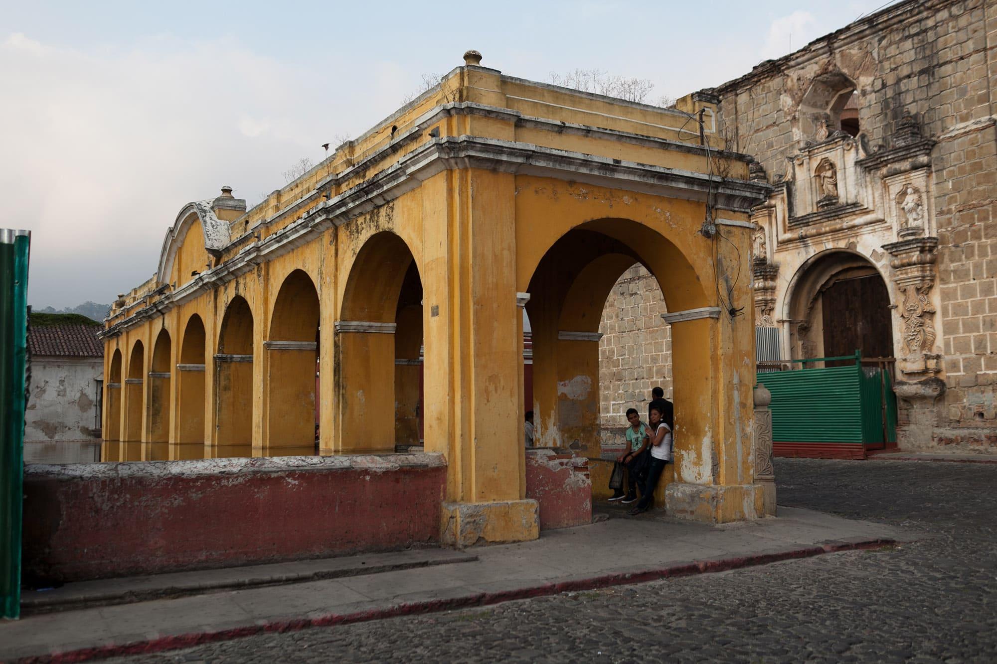 Tanque de la Union in Antigua, Guatemala.