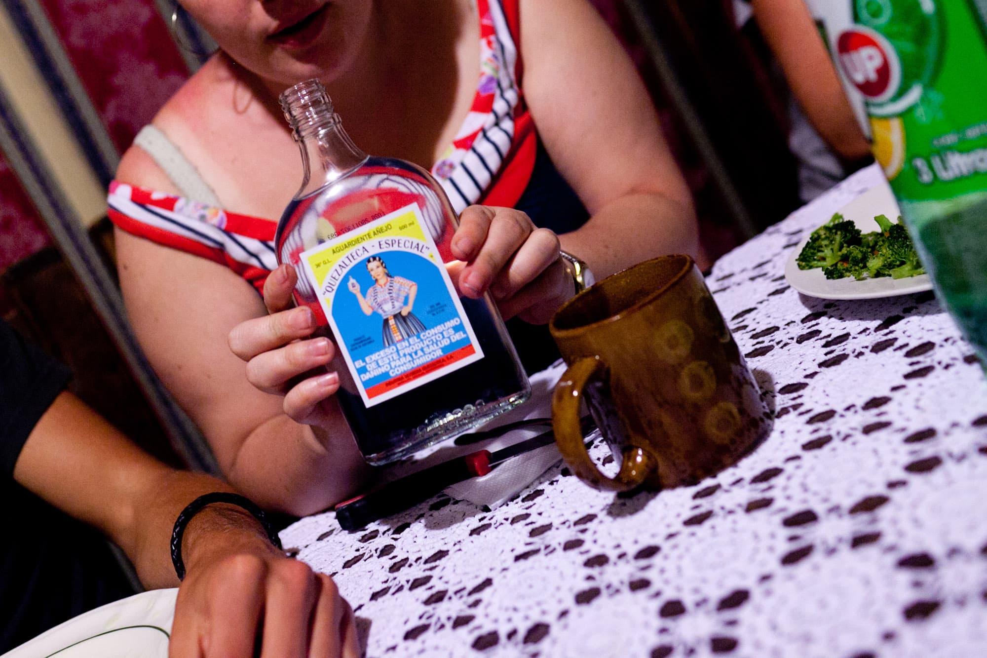 Guatemalan alcohol in Antigua, Guatemala